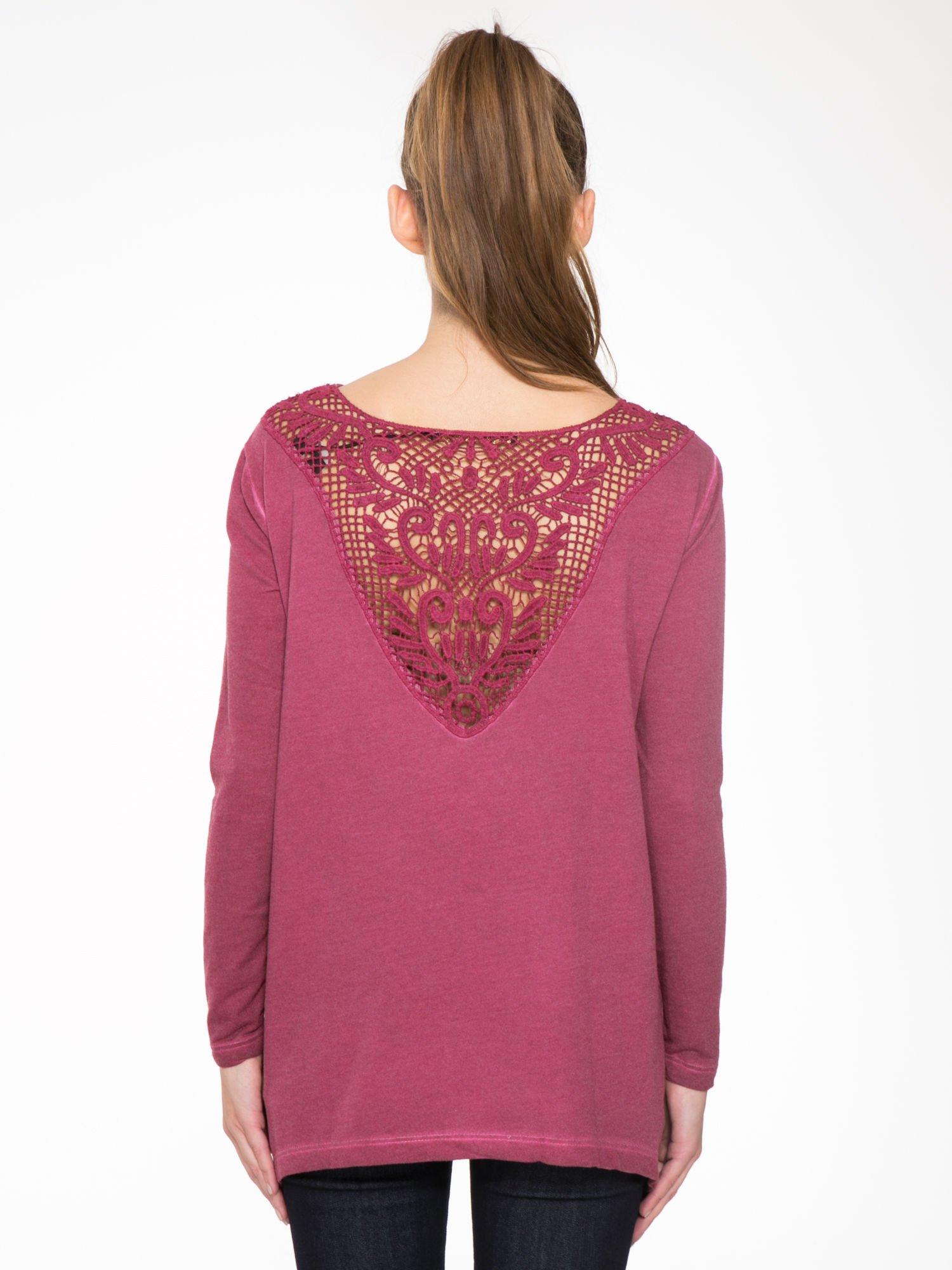 Bordowa bluza z koronkową wstawką na plecach                                  zdj.                                  10
