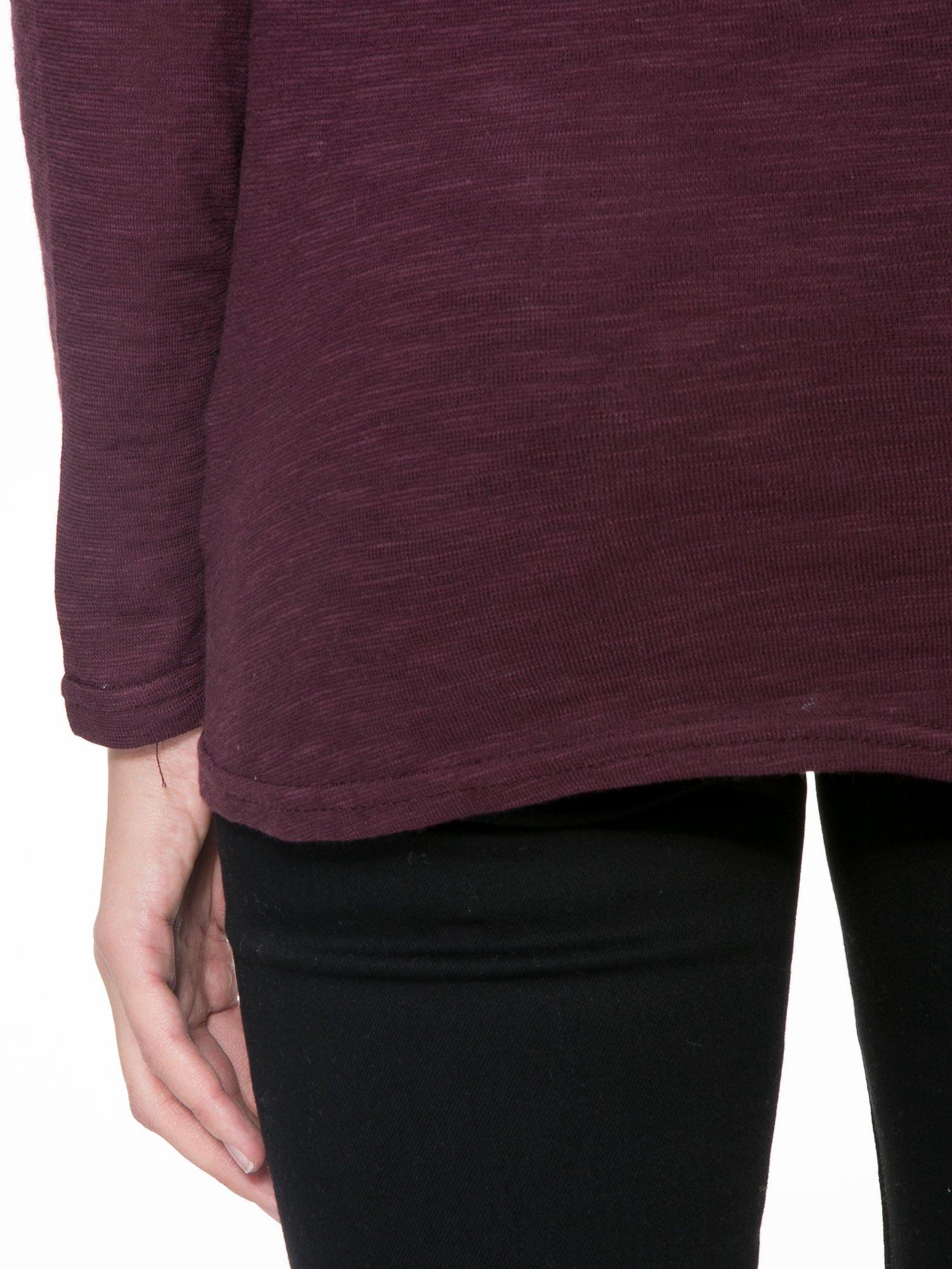 Bordowa bluzka z koronkową górą                                  zdj.                                  8
