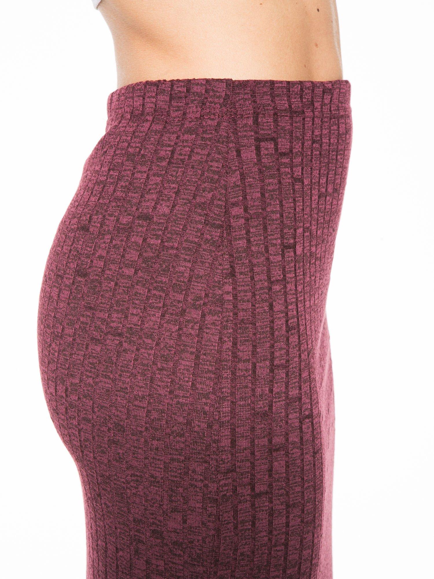 Bordowa dzianinowa spódnica za kolano                                  zdj.                                  7