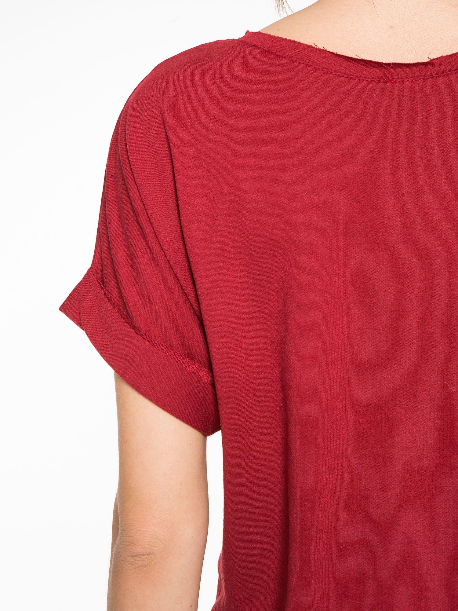 Borodowa bluzosukienka z nadrukiem NYC                                  zdj.                                  11