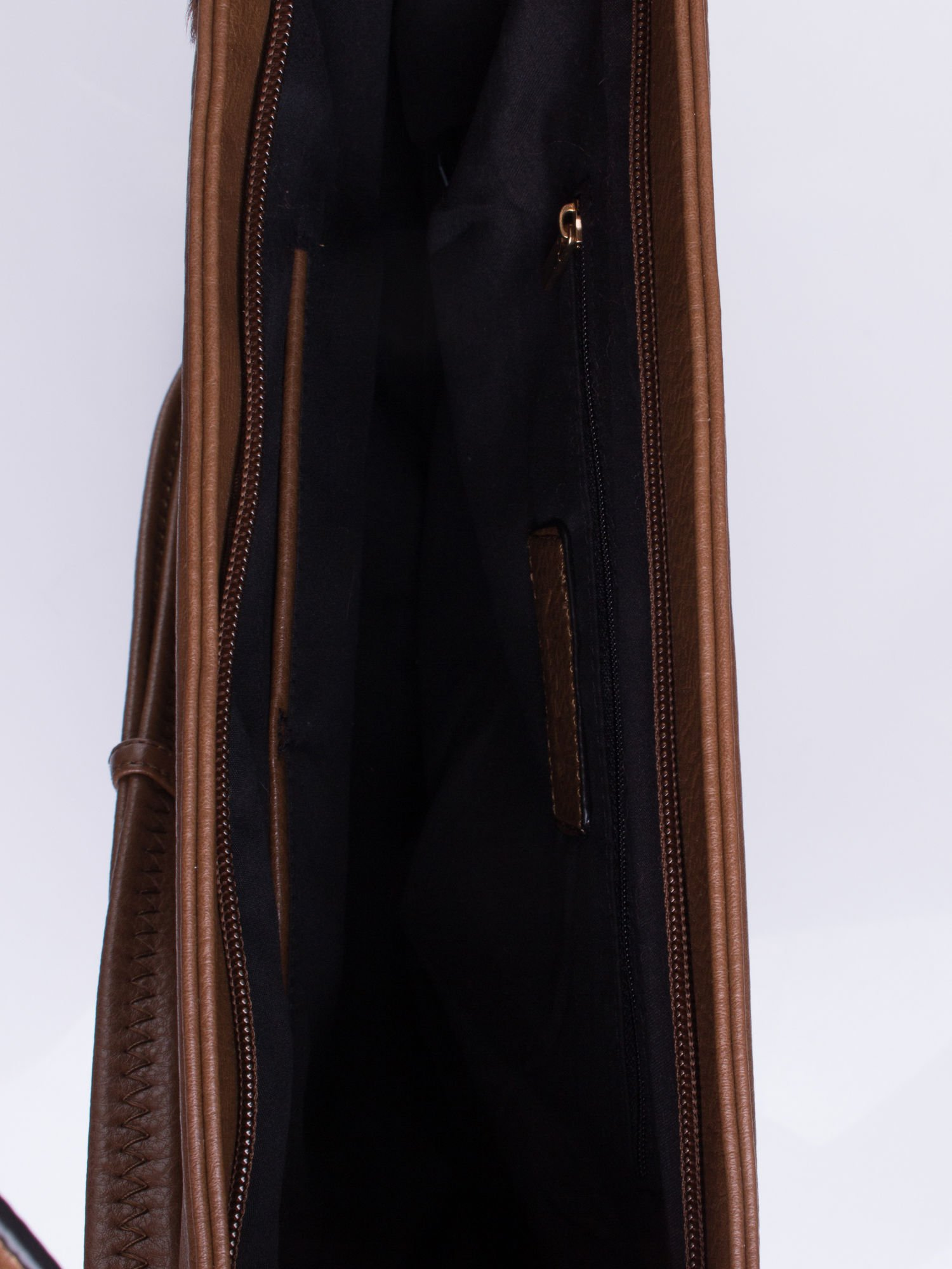 Brązowa torba z motywem panterkowym i odpinanym paskiem                                  zdj.                                  4