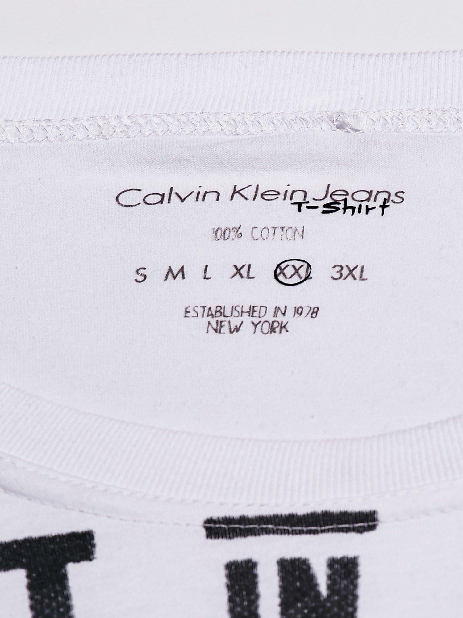 CALVIN KLEIN Biała bluzka męska z napisem BEST IN SHOW                                  zdj.                                  4