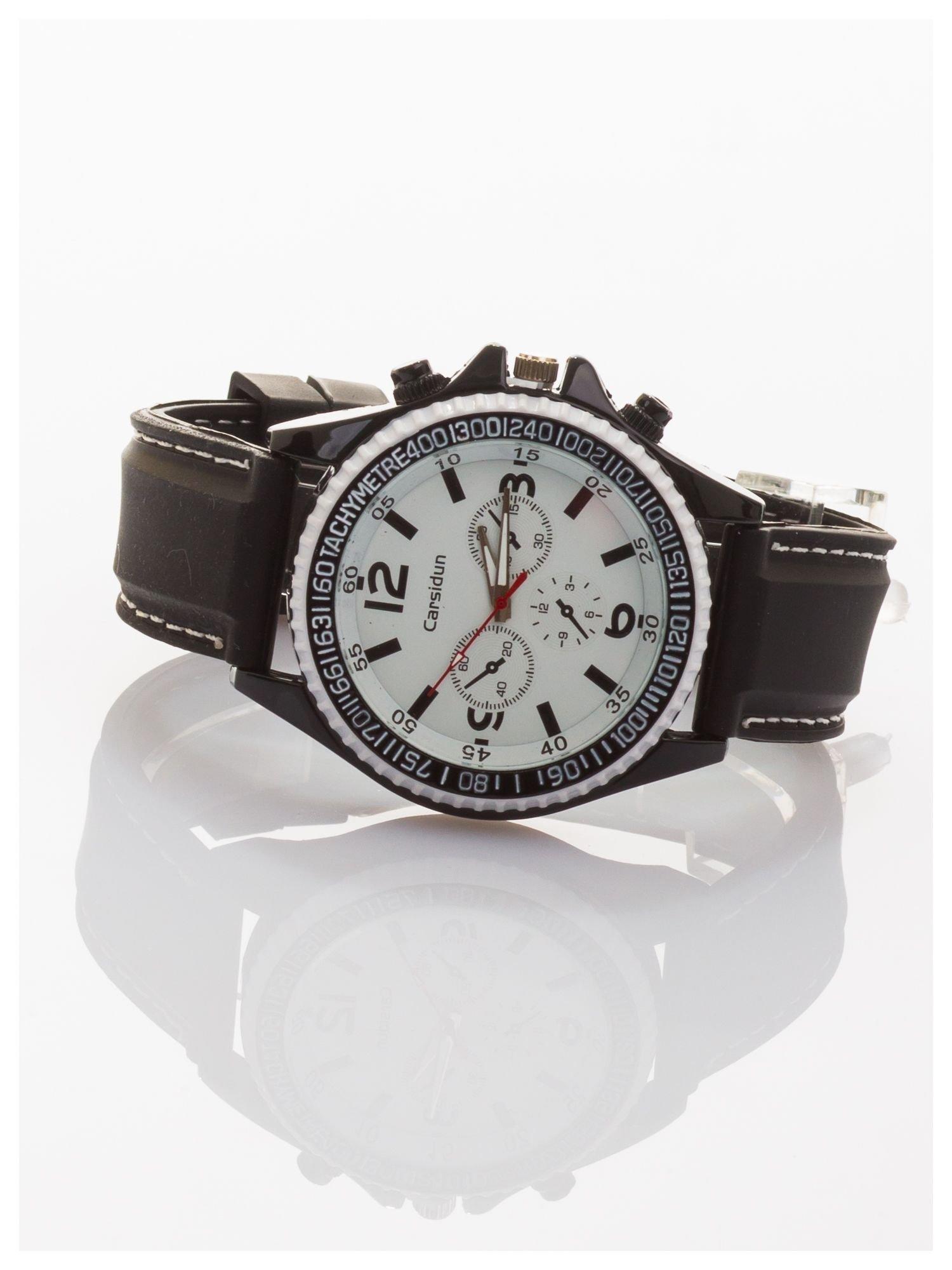 CARSIDUN Duży męski zegarek z ozdobnym chronometrem i tachometrem                                  zdj.                                  2