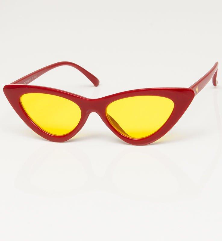 19532aacf47076 CAT EYE Czerwone damskie okulary przeciwsłoneczne KOCIE OCZY - Akcesoria  okulary - sklep eButik.pl