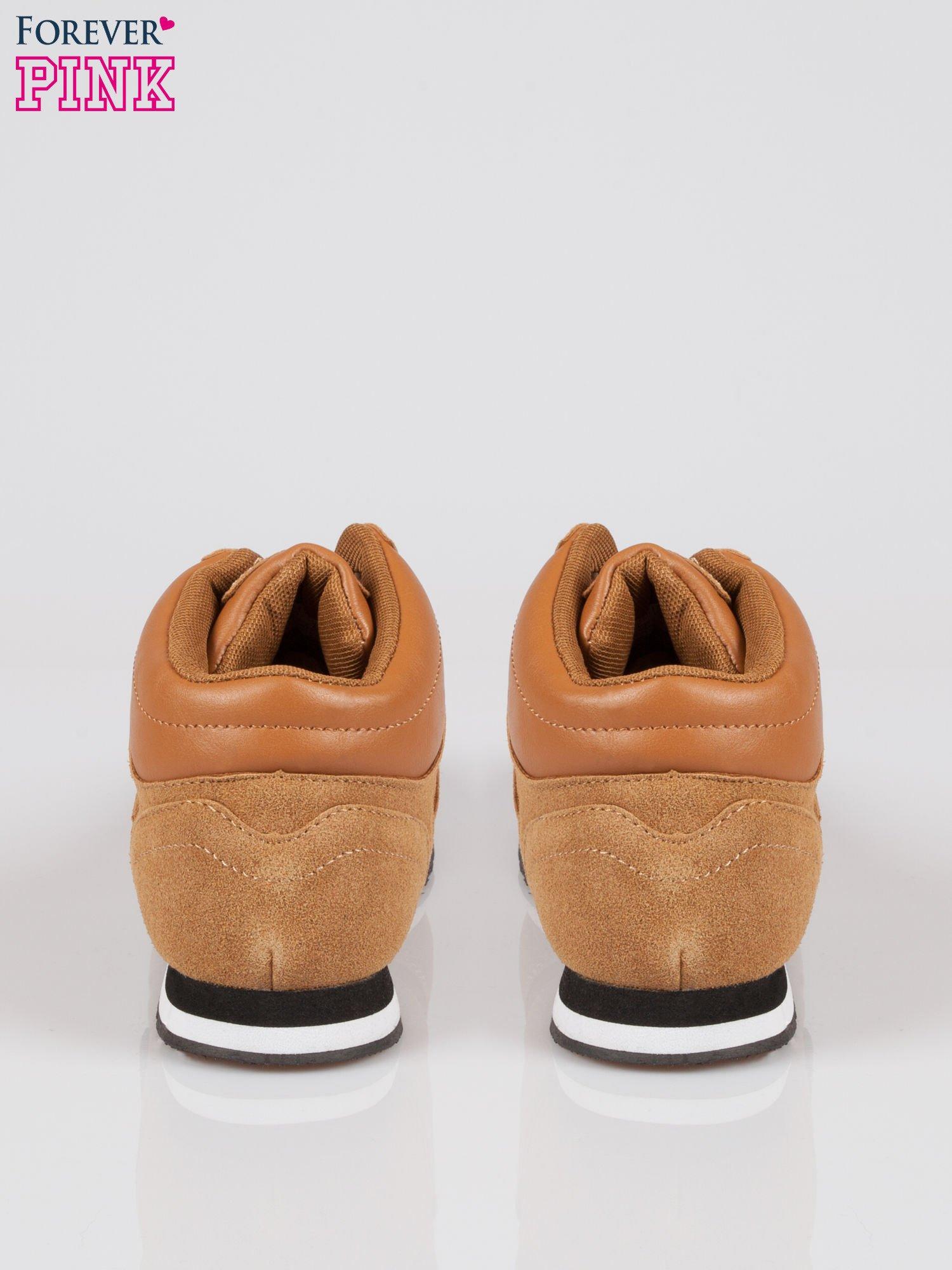 Camelowe buty sportowe faux suede Stylish z imitacji zamszu                                  zdj.                                  3