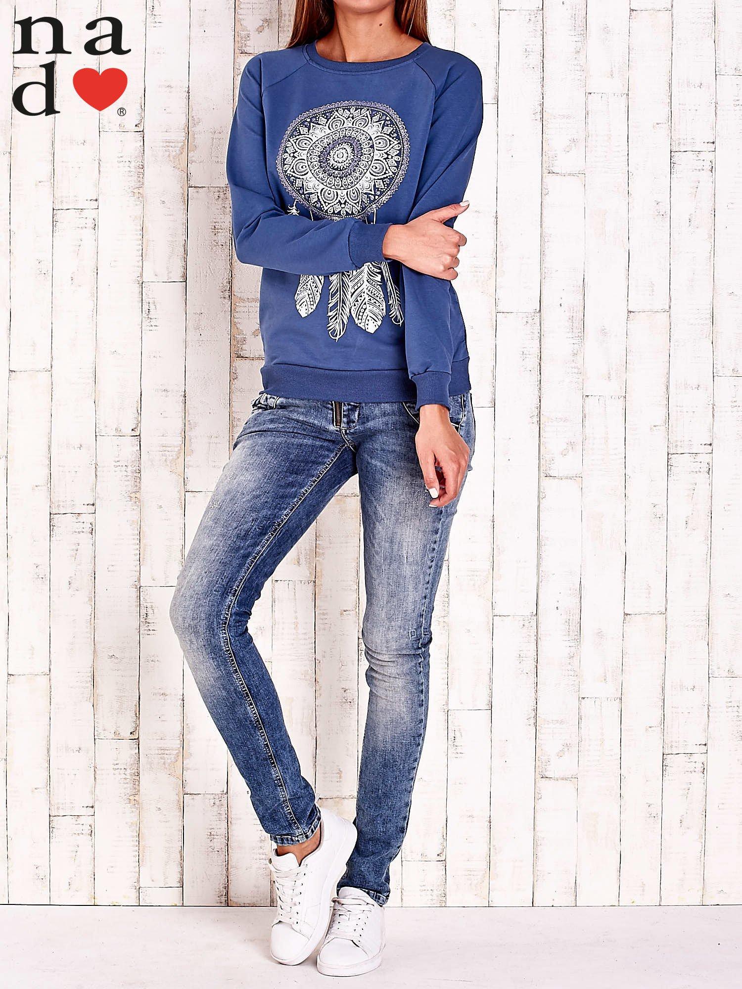 Ciemnoniebieska bluza z łapaczem snów                                  zdj.                                  2