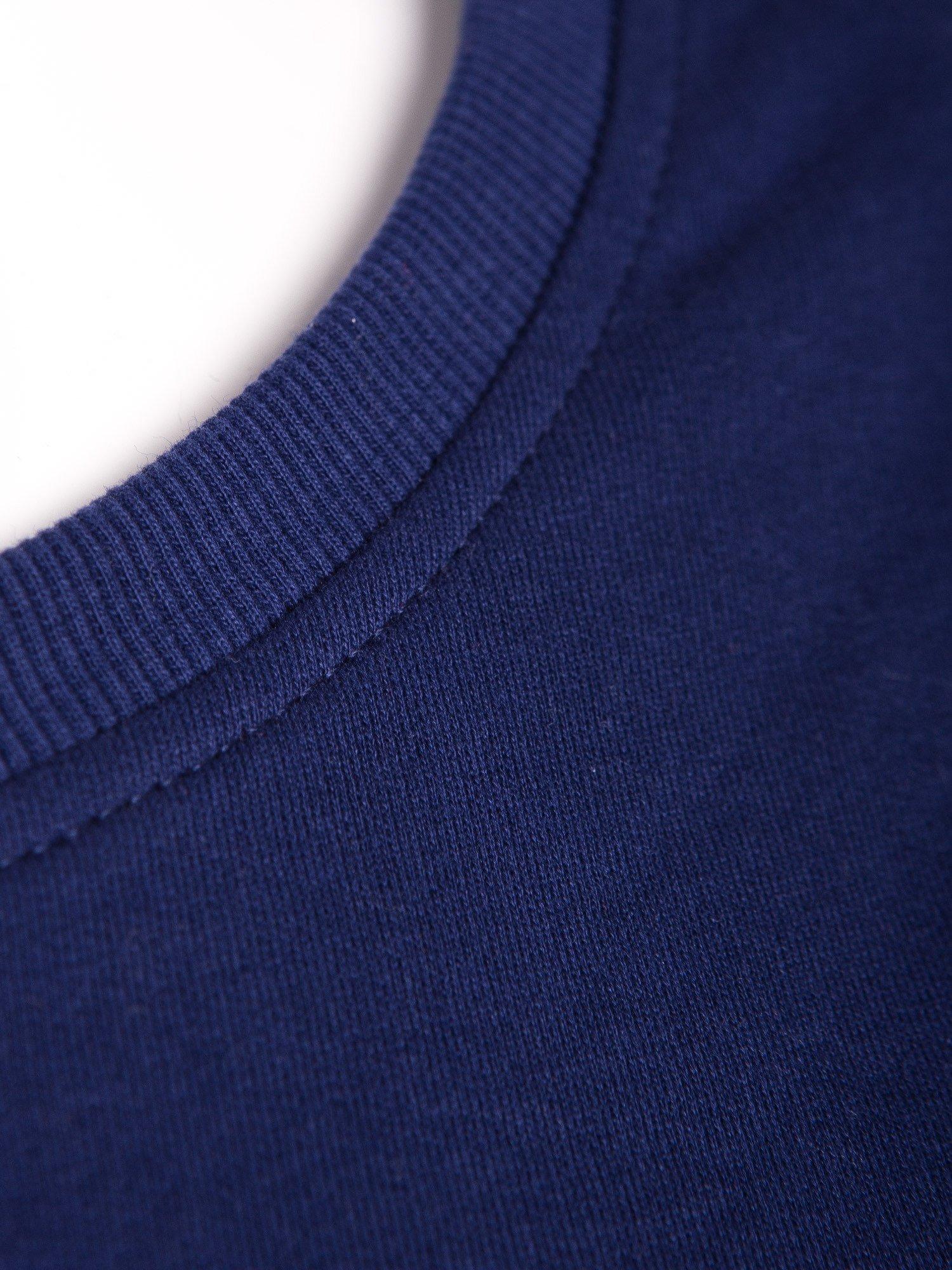 Ciemnoniebieska bluza z numerem w stylu collage                                  zdj.                                  7