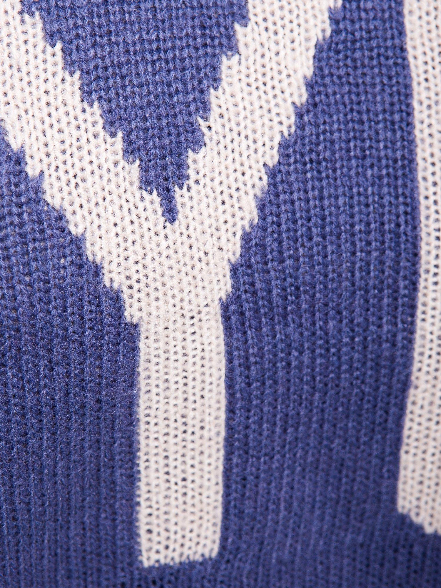 Ciemnoniebieski sweter z sercem i napisem YOU                                  zdj.                                  7
