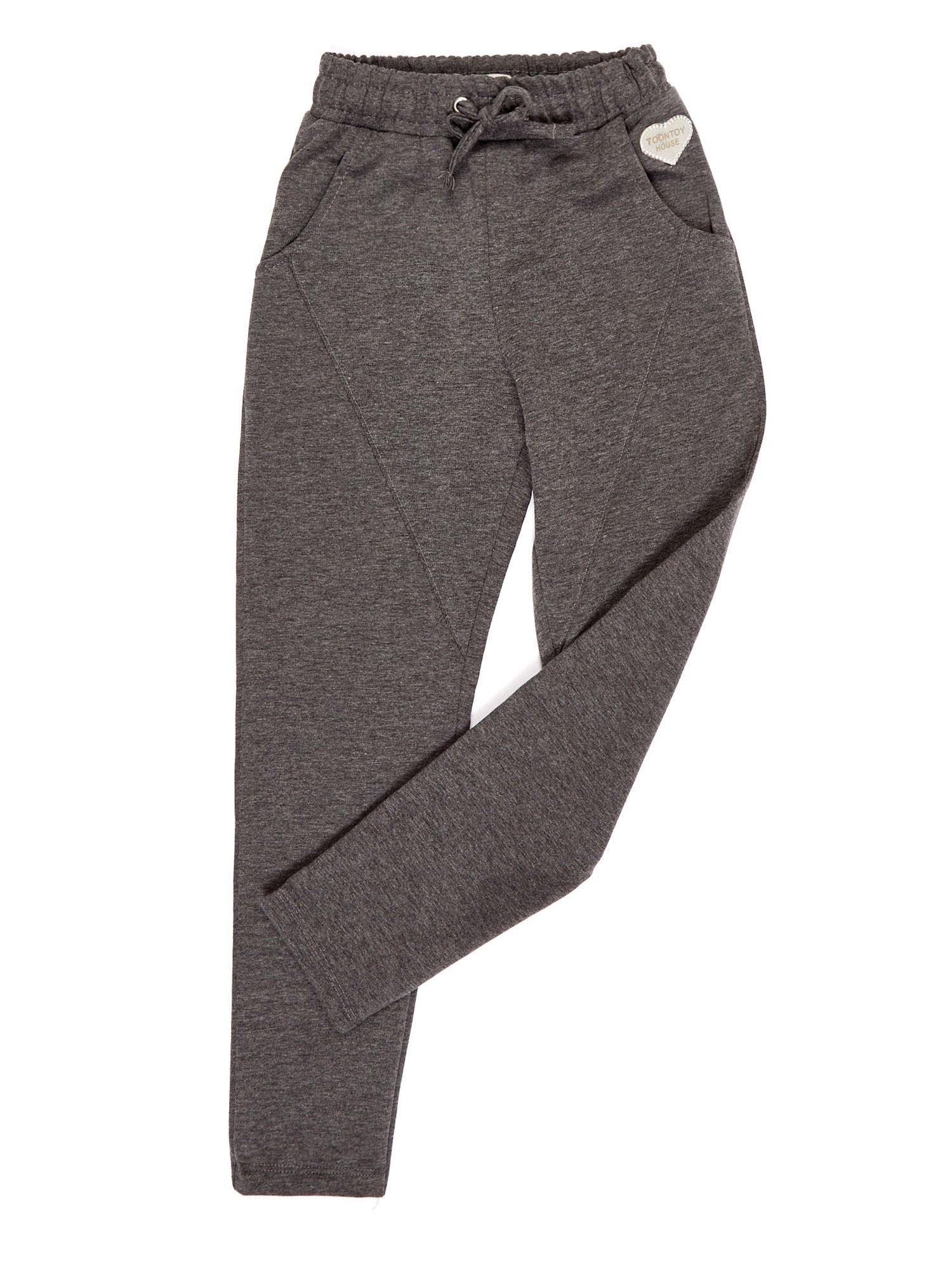 d247c5f5b Ciemnoszare spodnie dresowe dla dziewczynki - Dziecko Dziewczynka - sklep  eButik.pl
