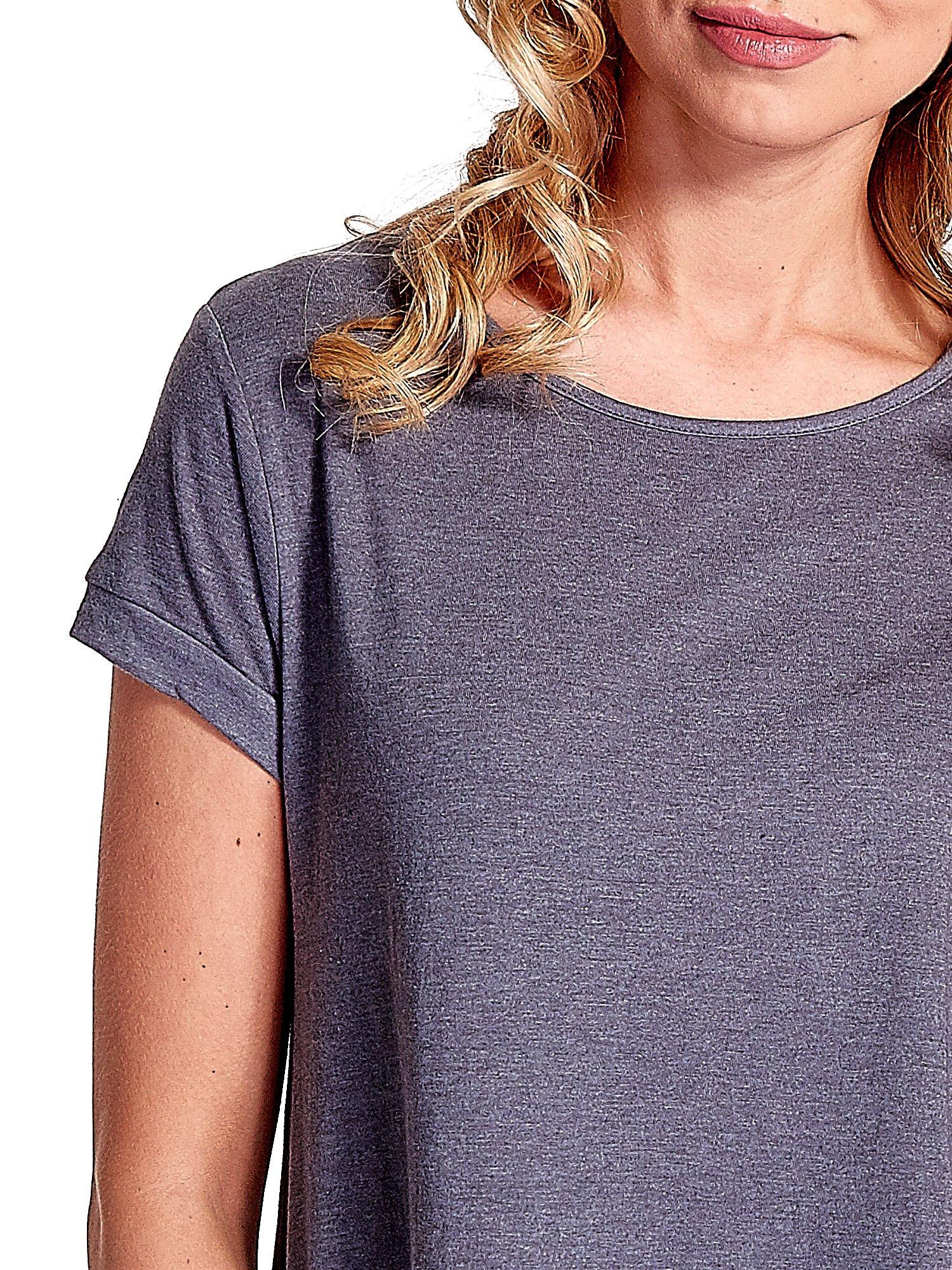 Ciemnoszary luźny t-shirt                                   zdj.                                  4