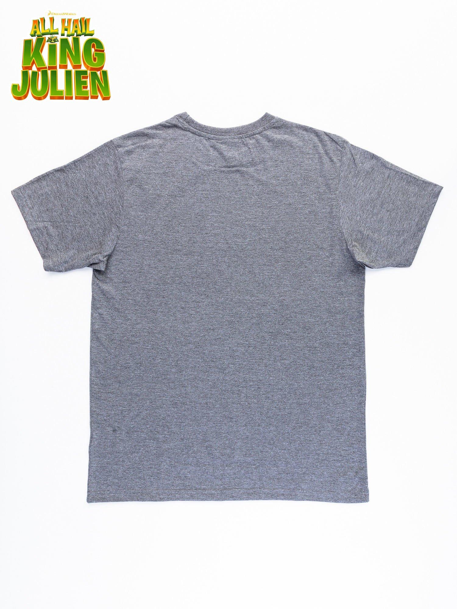 Ciemnoszary t-shirt męski KRÓL JULIAN                                  zdj.                                  10