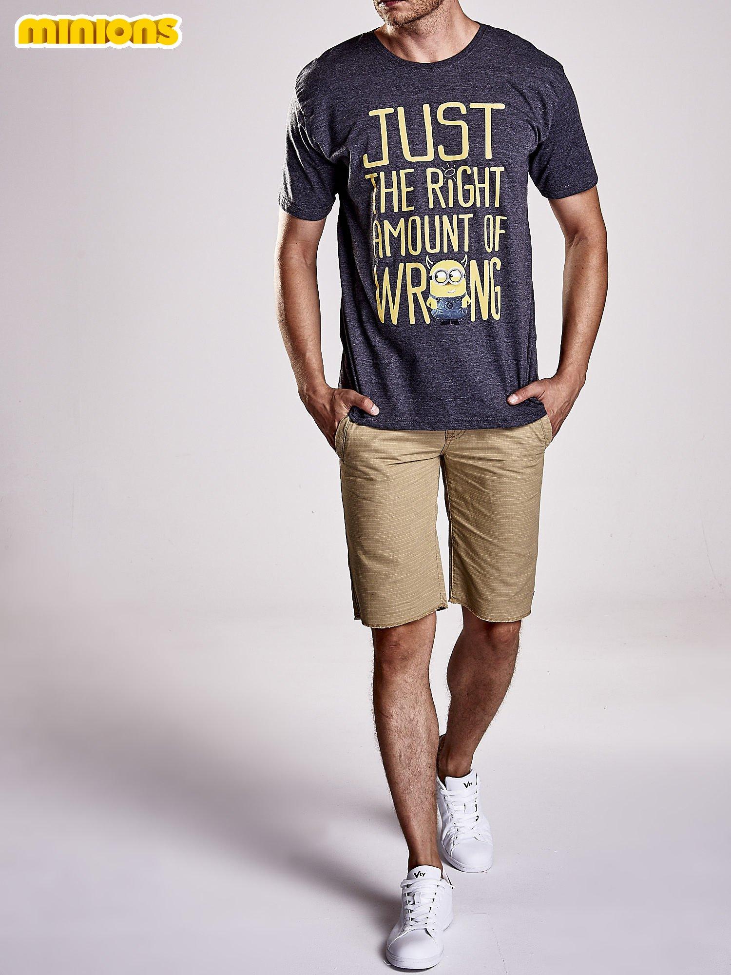 Ciemnoszary t-shirt męski MINIONKI                                  zdj.                                  9
