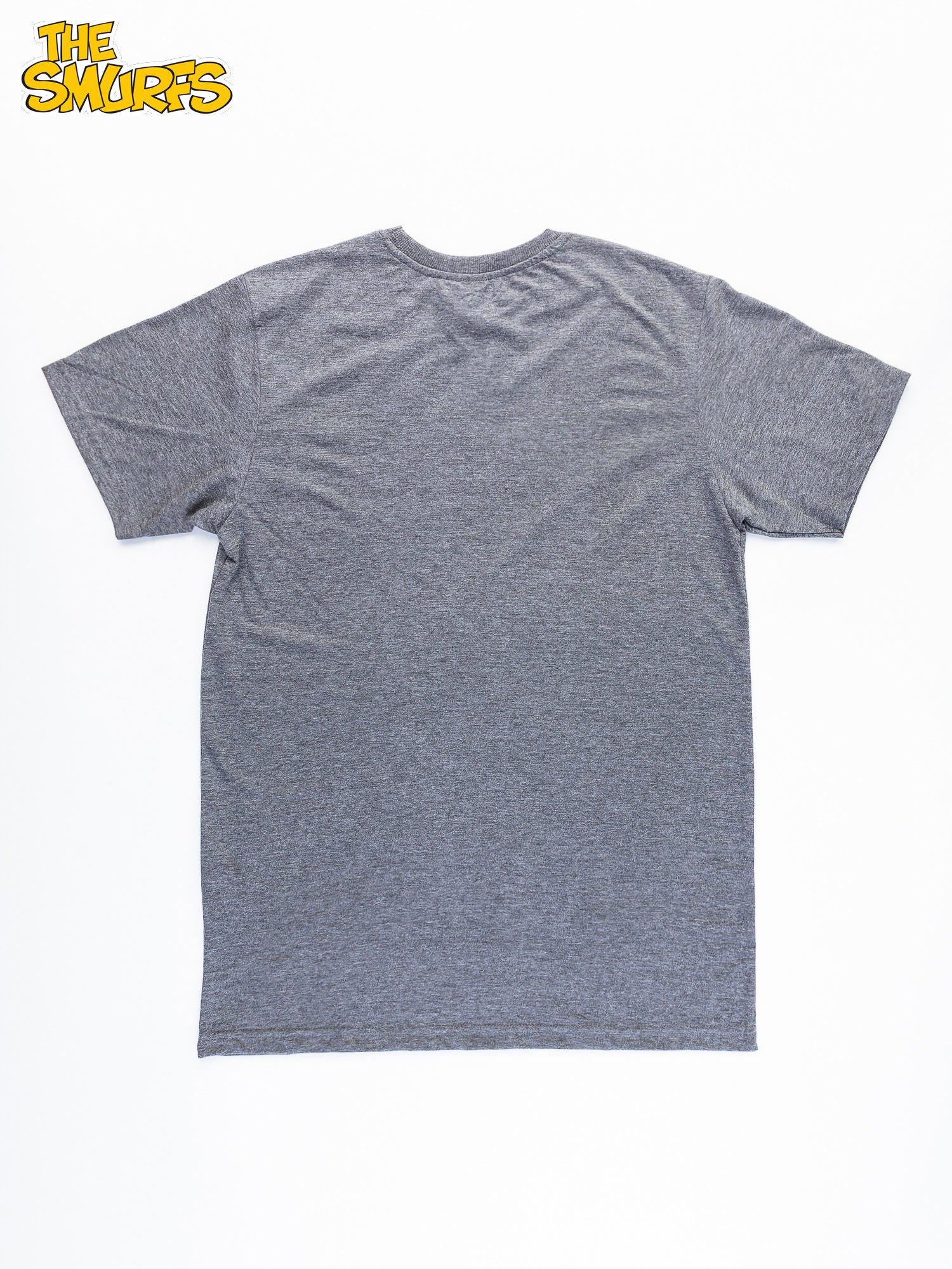 Ciemnoszary t-shirt męski SMERFY                                  zdj.                                  11