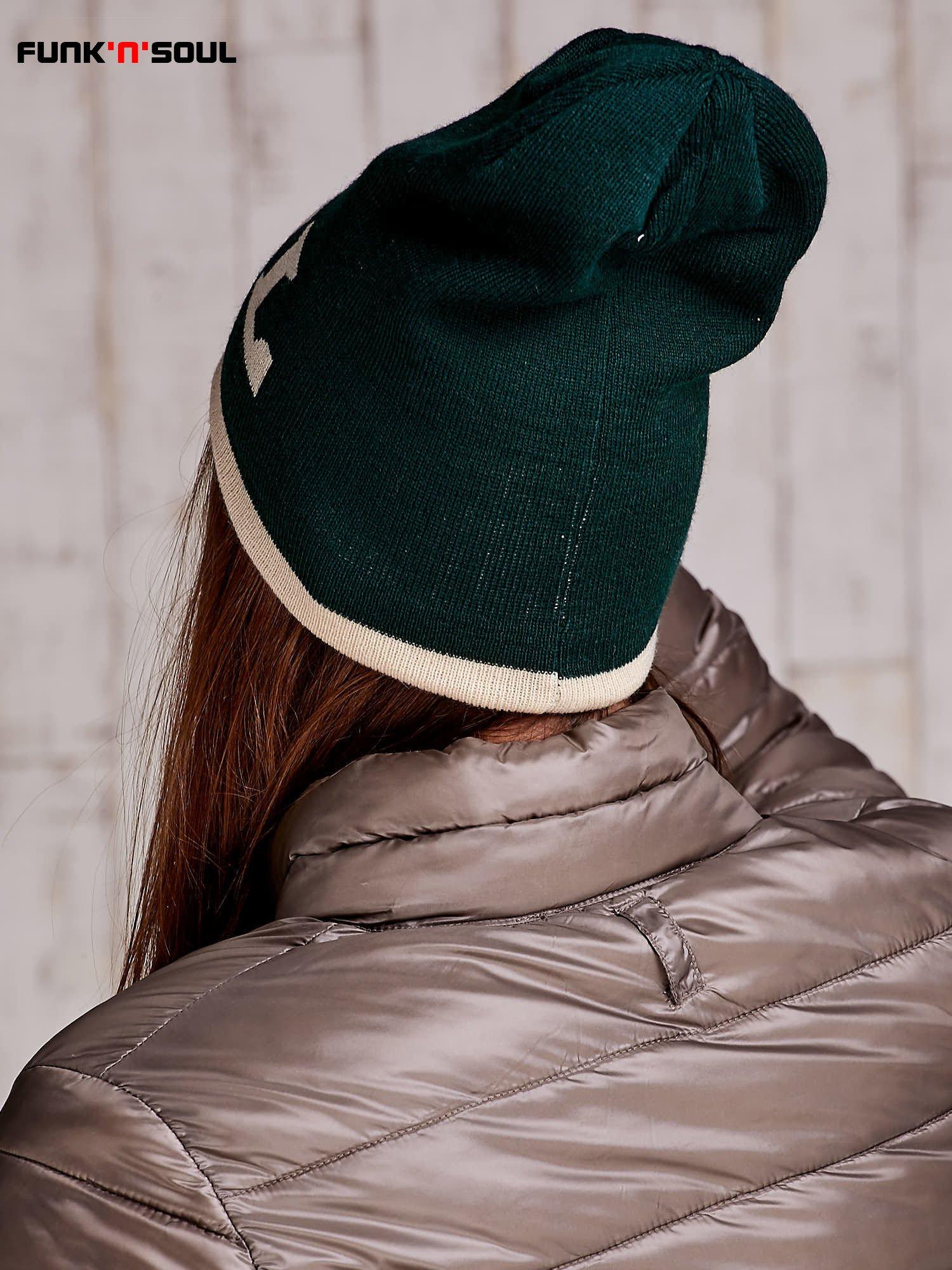 Ciemnozielona czapka z napisem COOL Funk n Soul                                  zdj.                                  5