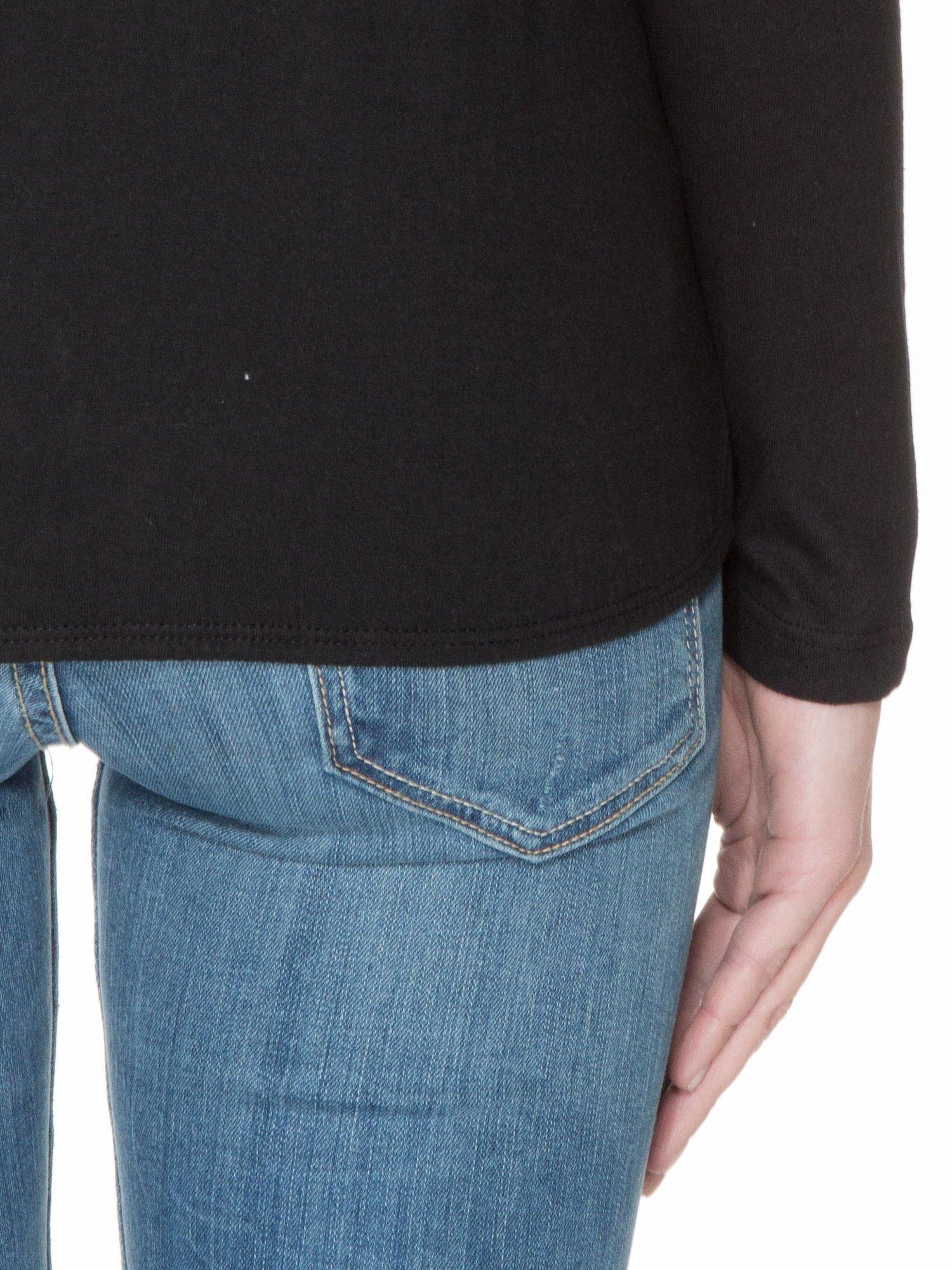 Czarna bawełniana bluzka z gumką na dole                                  zdj.                                  6
