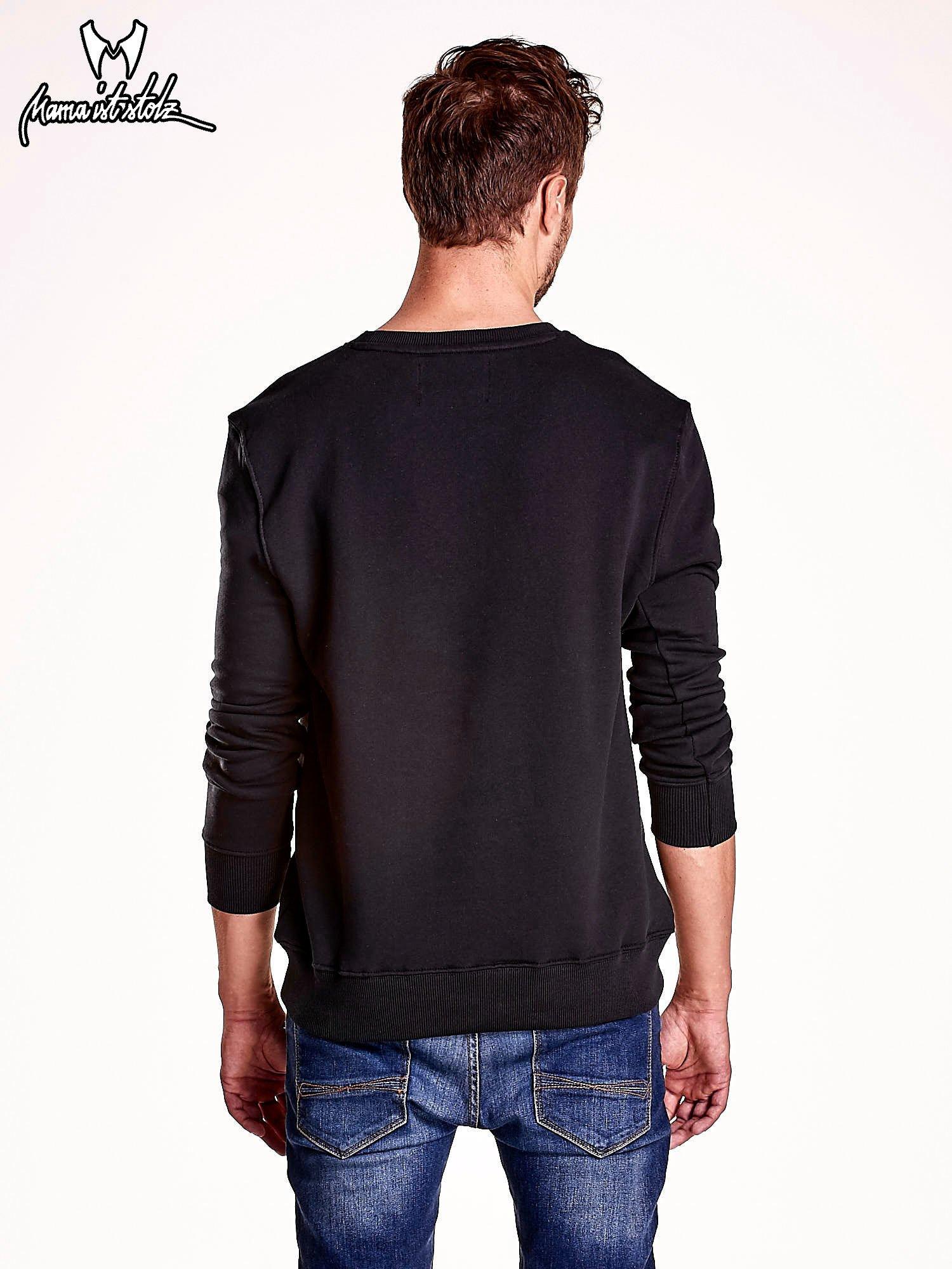 Czarna bluza męska z niedźwiedziem                                  zdj.                                  5