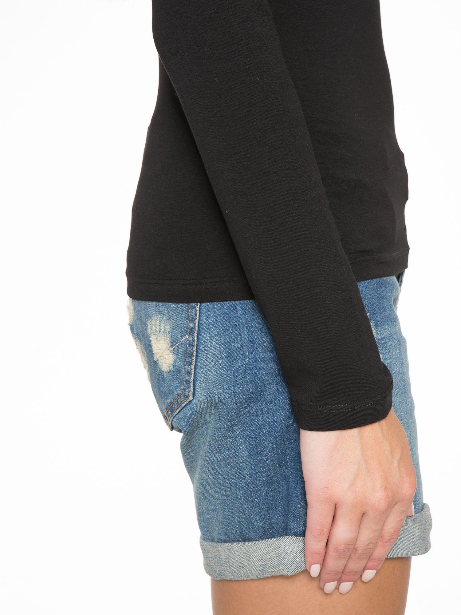 Czarna bluzka z dekoltem cut out                                  zdj.                                  9