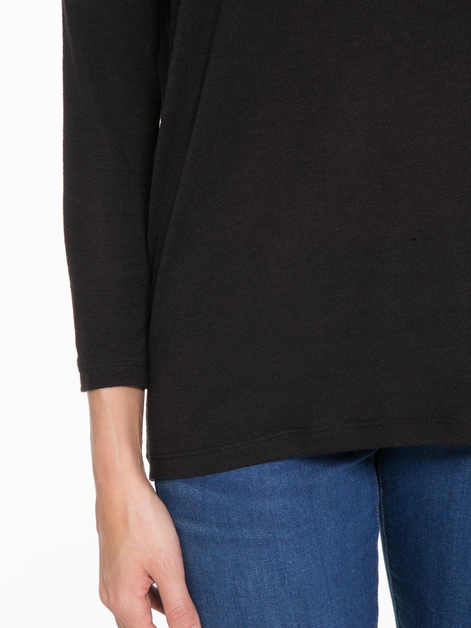 Czarna bluzka z dekoltem na plecach                                  zdj.                                  7