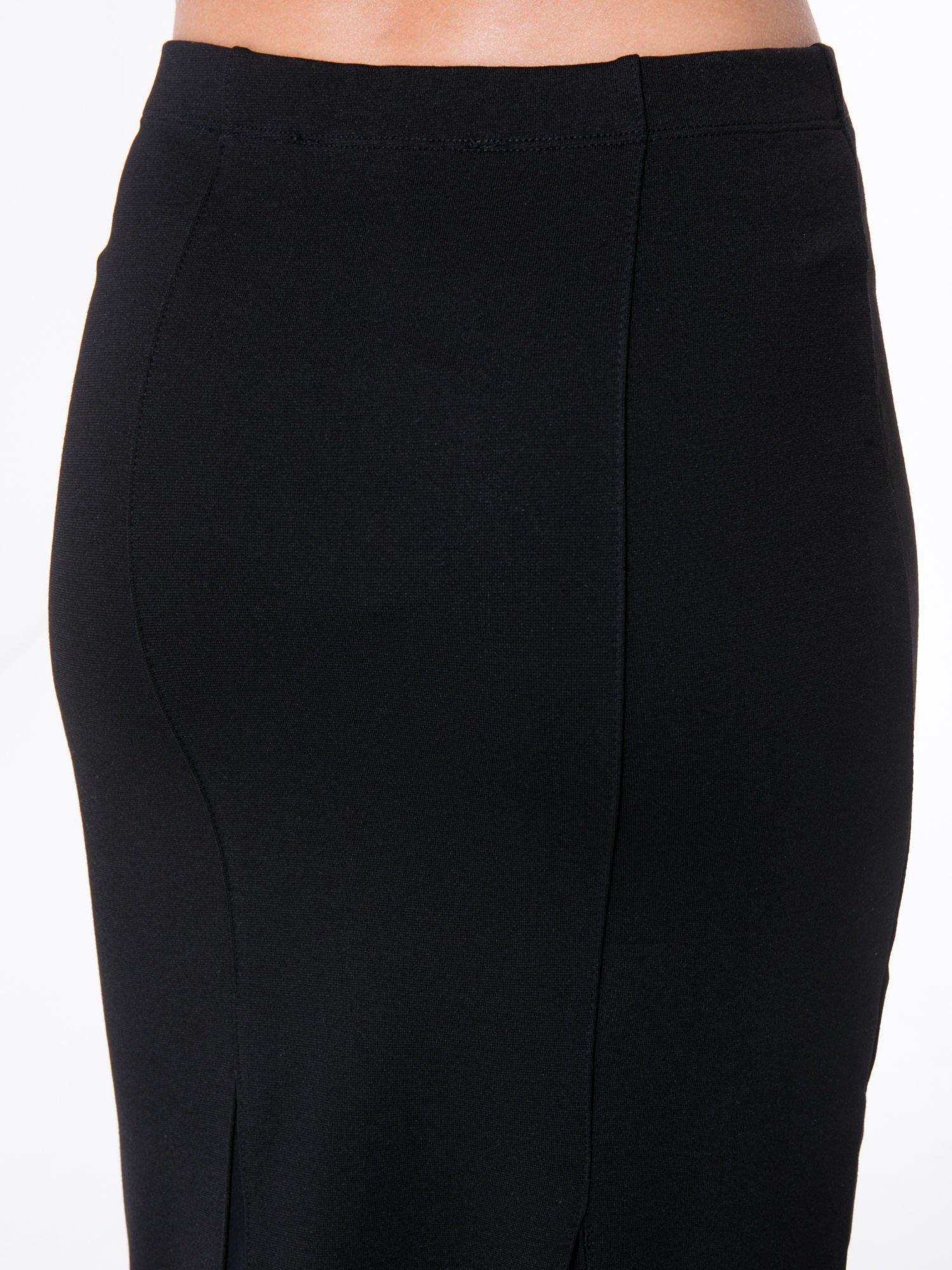 Czarna długa spódnica maxi z tiulowymi wstawkami na dole                                  zdj.                                  6