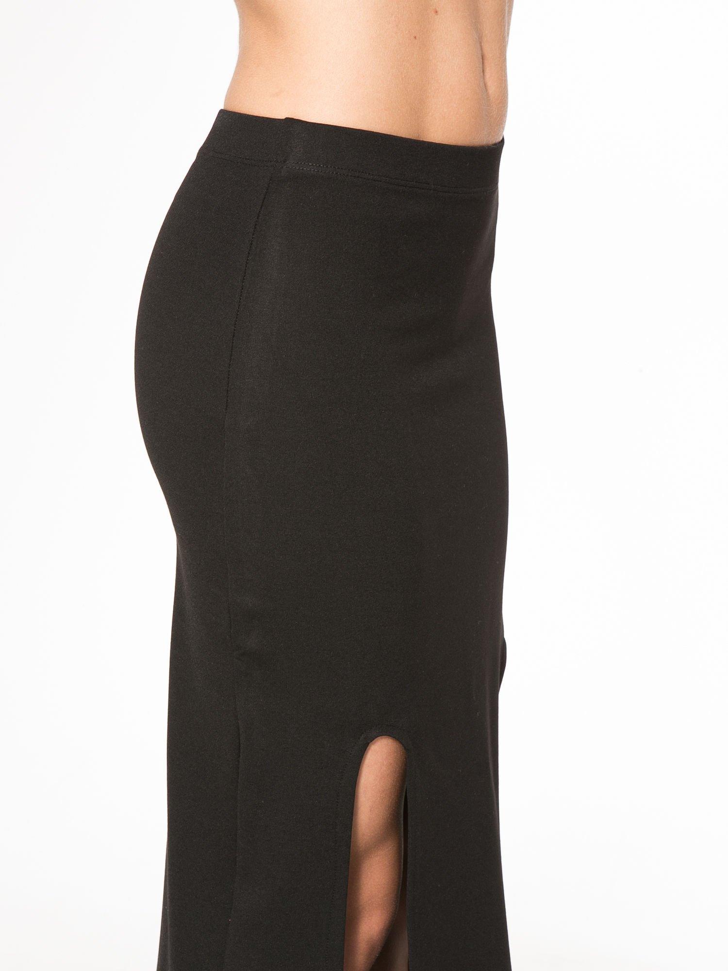 Czarna długa spódnica z rozporkami z przodu                                  zdj.                                  10