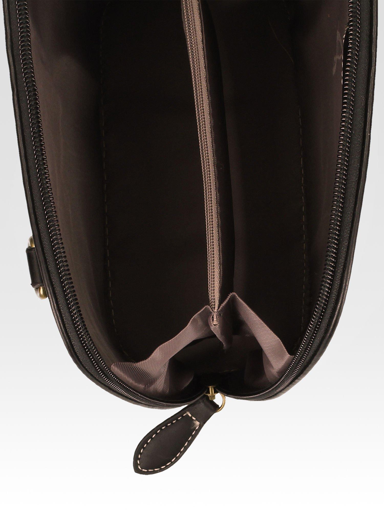 Czarna elegancka listonoszka z odpinanaym paskiem                                  zdj.                                  6