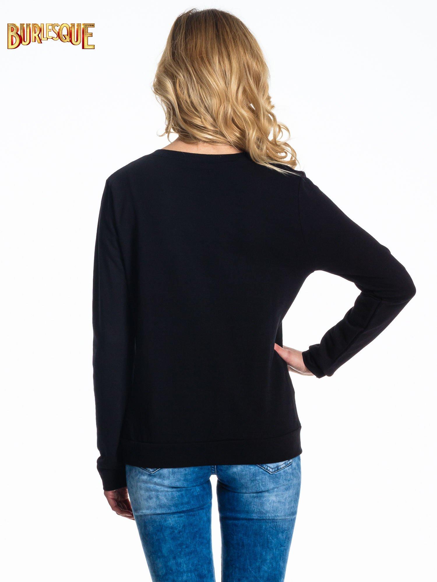 Czarna klasyczna bluza damska z napisem SORRY NOT SORRY                                  zdj.                                  4