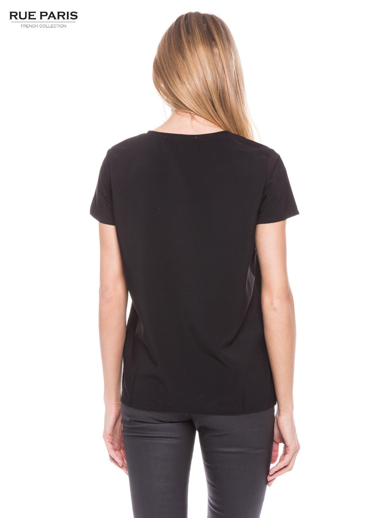 Czarna koszula ze złotymi ćwiekami na ramionach                                  zdj.                                  2