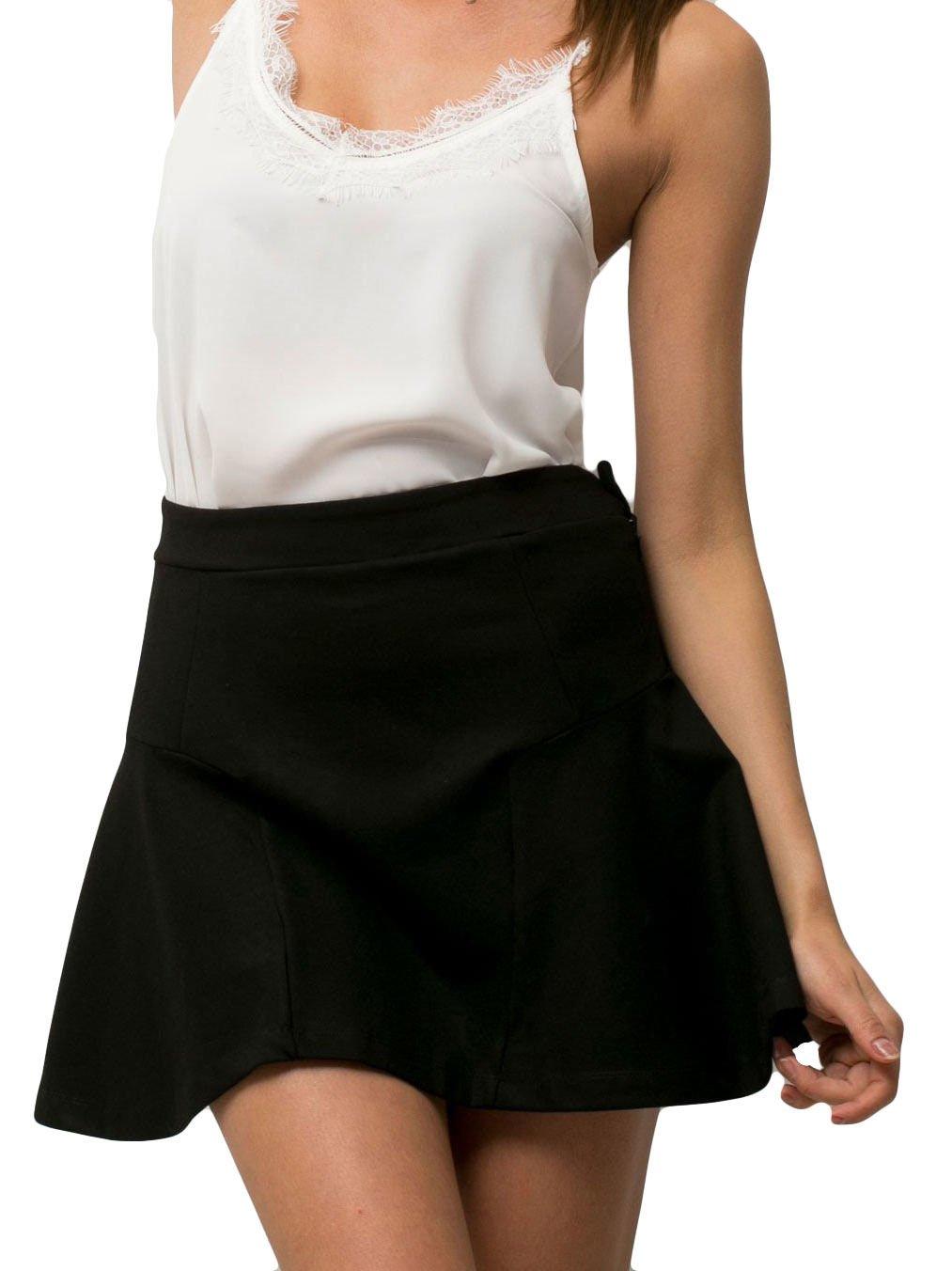 Czarna mini spódniczka skater                                  zdj.                                  2