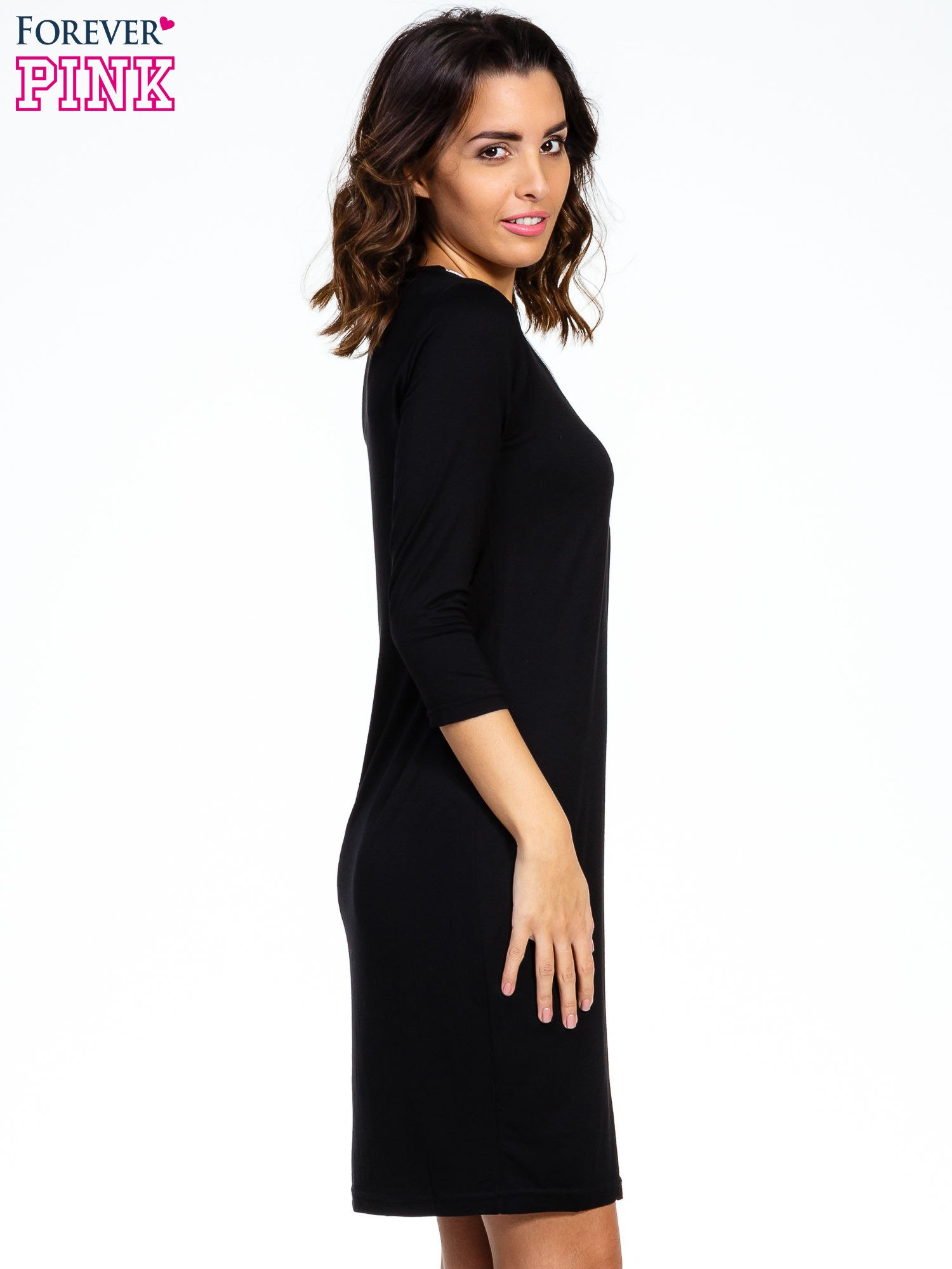 Czarna sukienka z suwakiem                                  zdj.                                  3