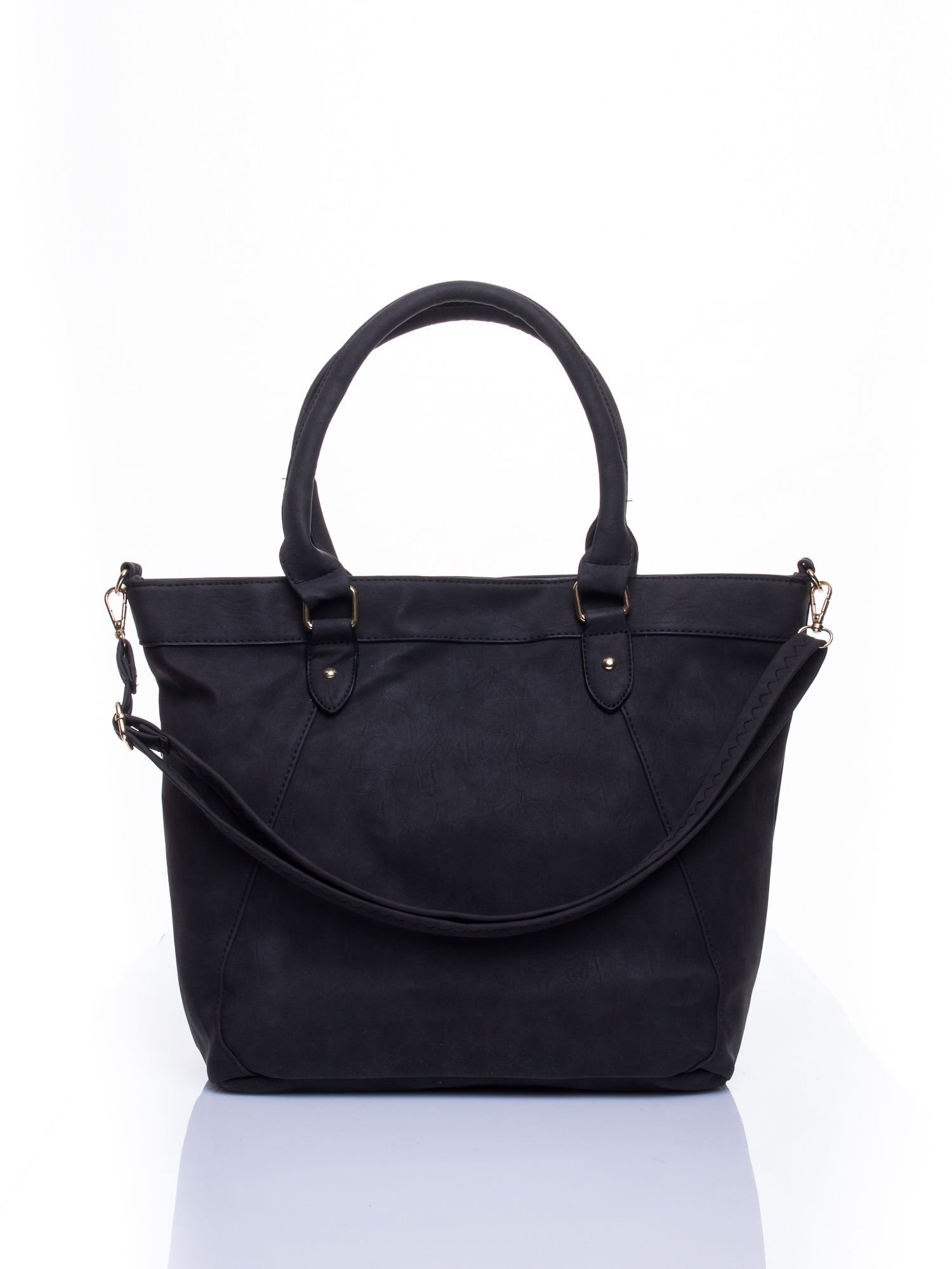 Czarna torba city bag na ramię                                  zdj.                                  1
