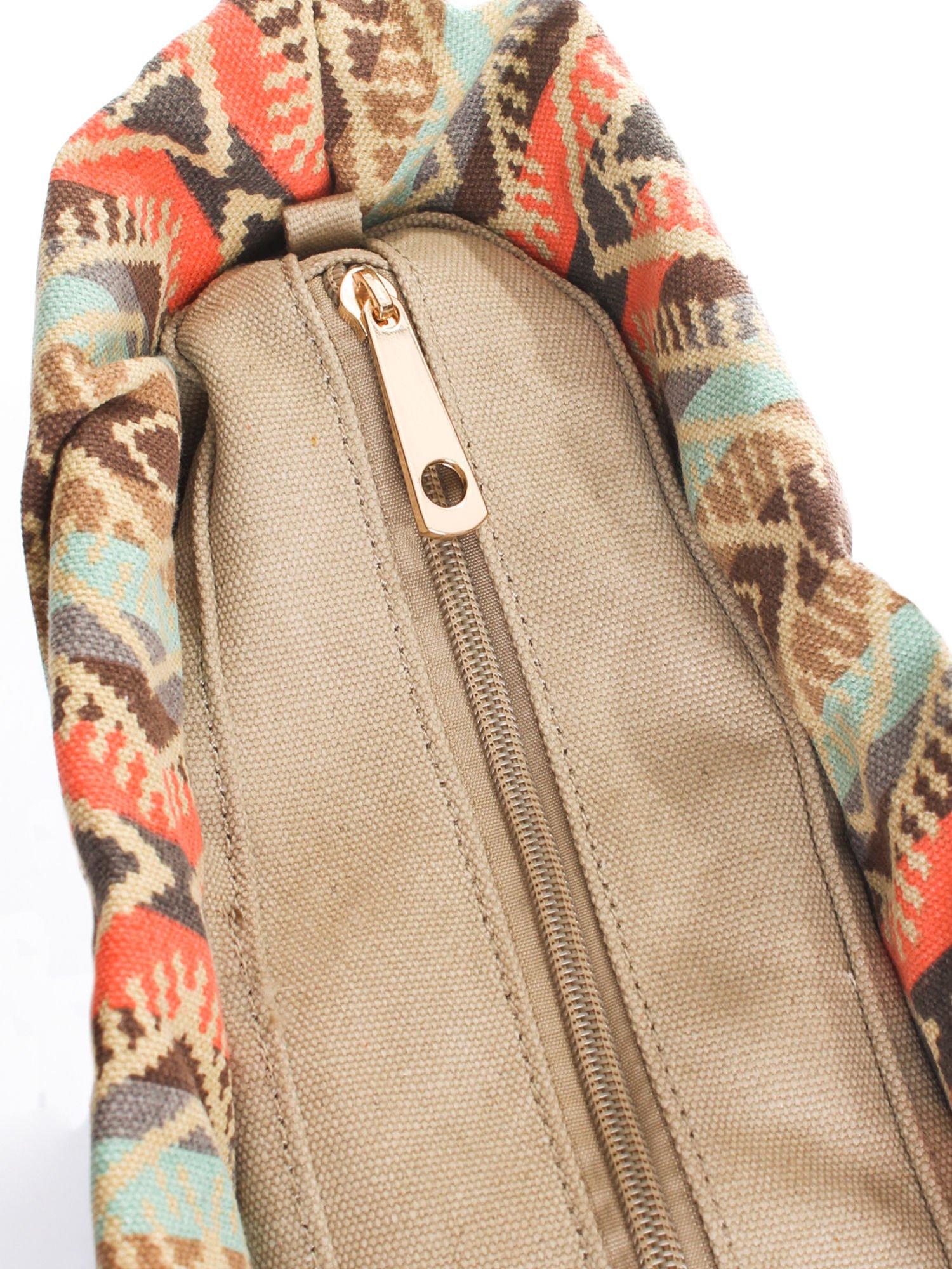 Czarna torba gumowa z motywem azteckim                                  zdj.                                  6