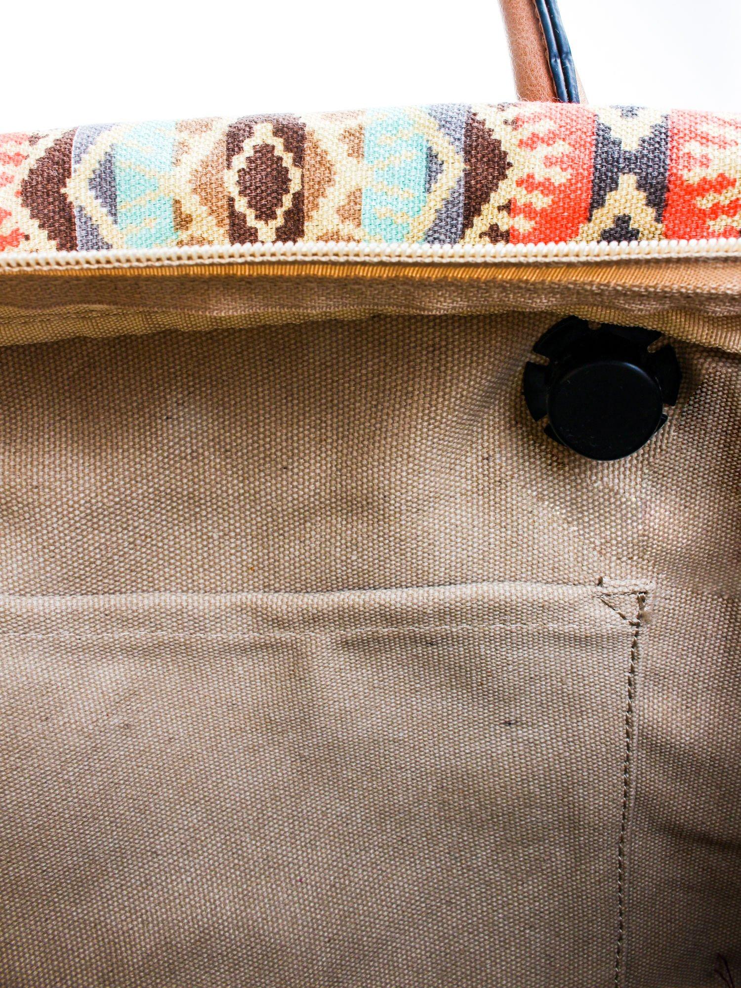 Czarna torba gumowa z motywem azteckim                                  zdj.                                  8