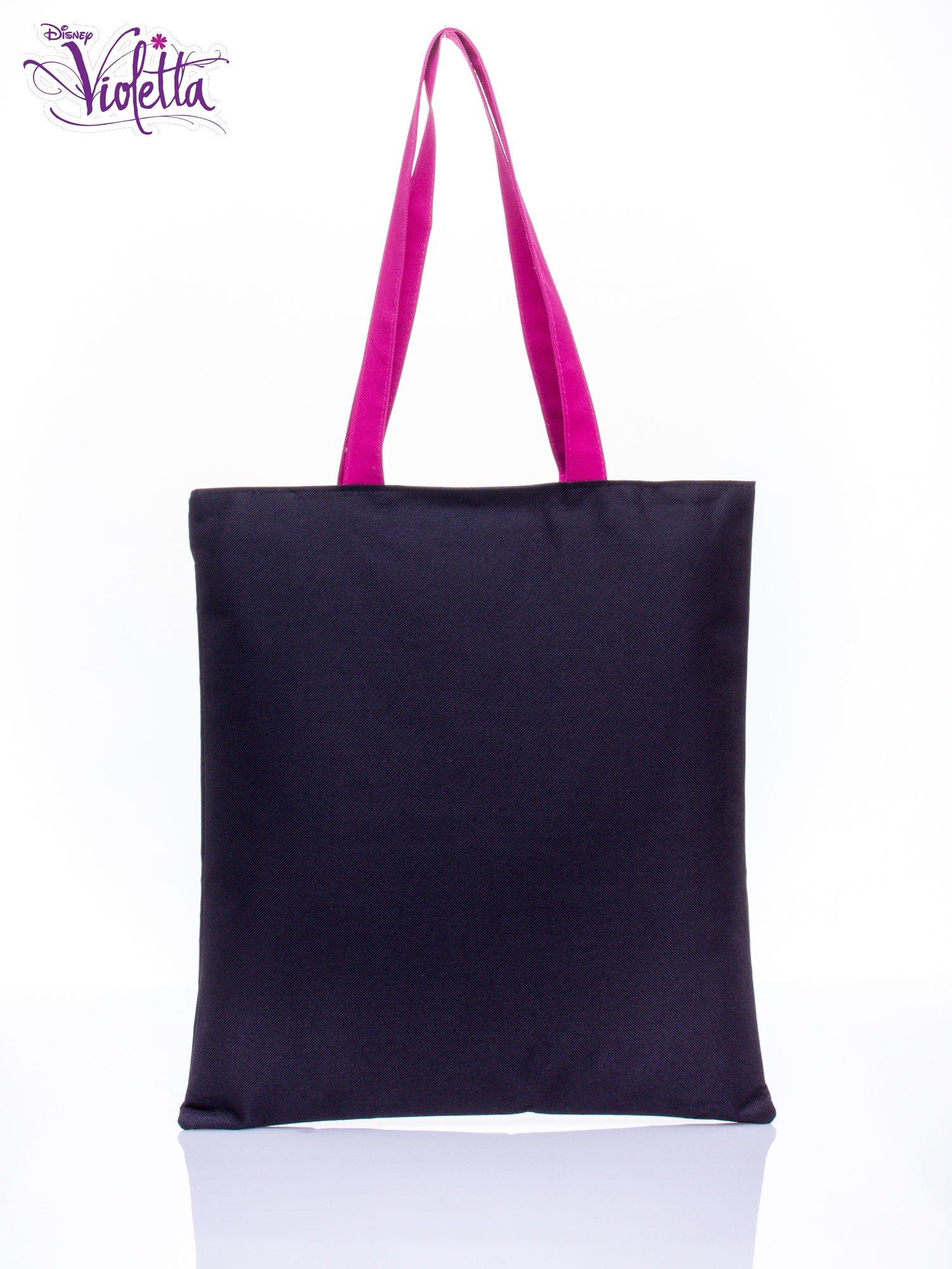Czarna torba shopper bag dla dziewczynki DISNEY Violetta                                  zdj.                                  2