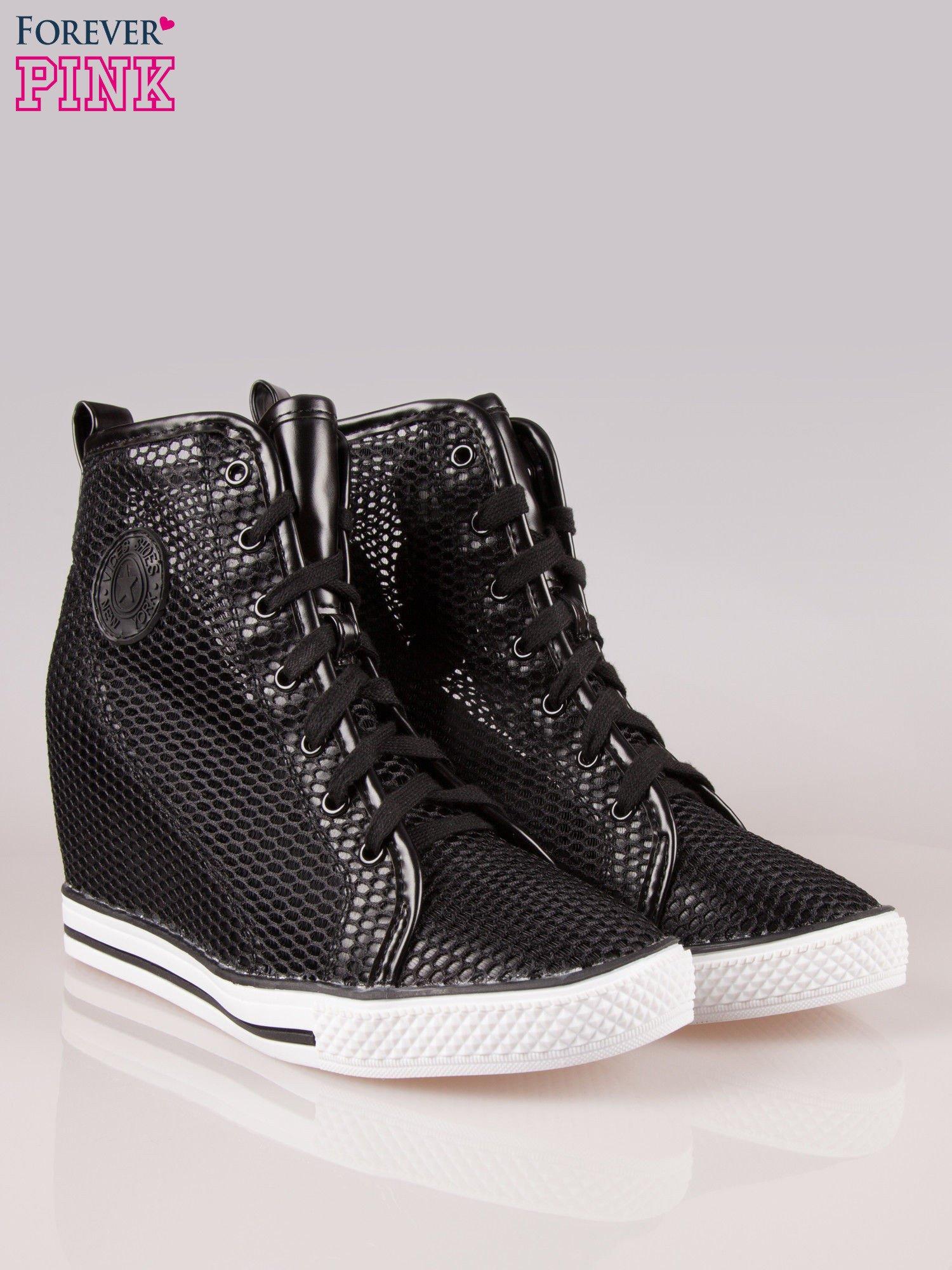 735b1d7a Trampki Czarne Ebutik Koturnie Na Sklep Buty pl Sneakersy Ażurowe Rwq5w6