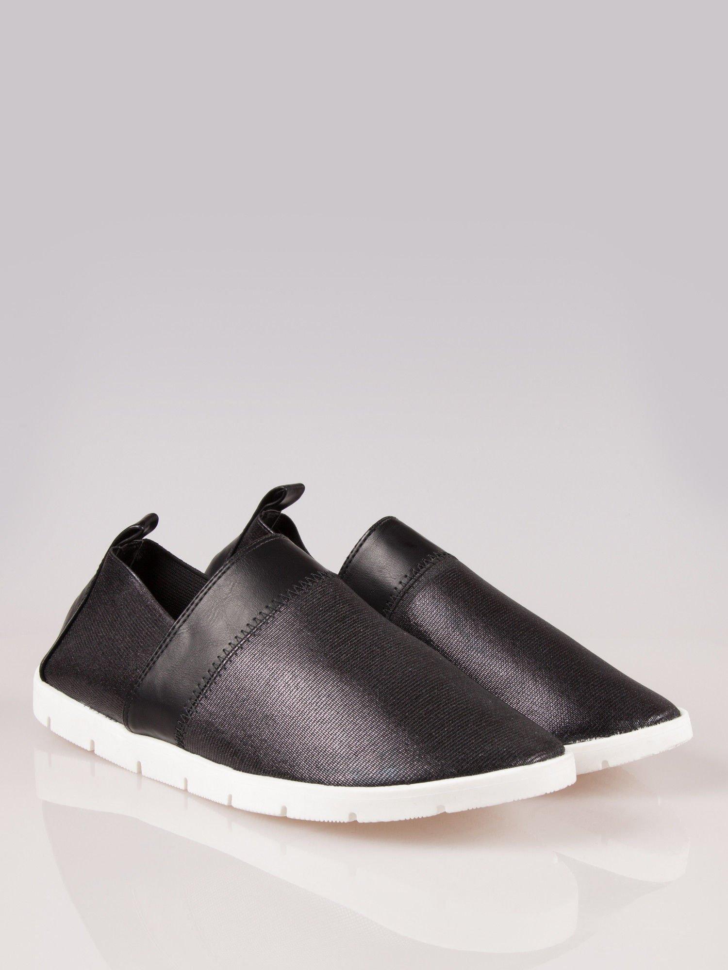 Czarne buty slippers Dakota na traktorowej podeszwie                                  zdj.                                  2