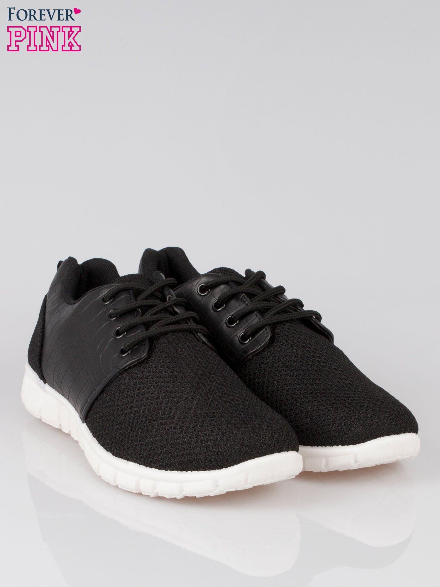 Czarne buty sportowe dual Lead Up z wężową wstawką                                  zdj.                                  2