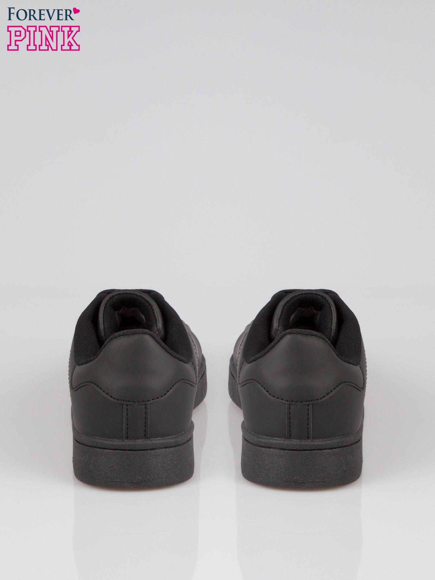 Czarne buty sportowe material Enigmatic z metalicznym czubkiem                                  zdj.                                  3