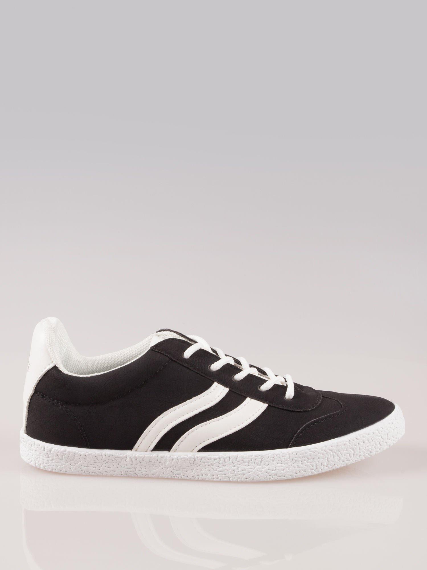 Czarne buty sportowe w stylu casual Kash                                  zdj.                                  1