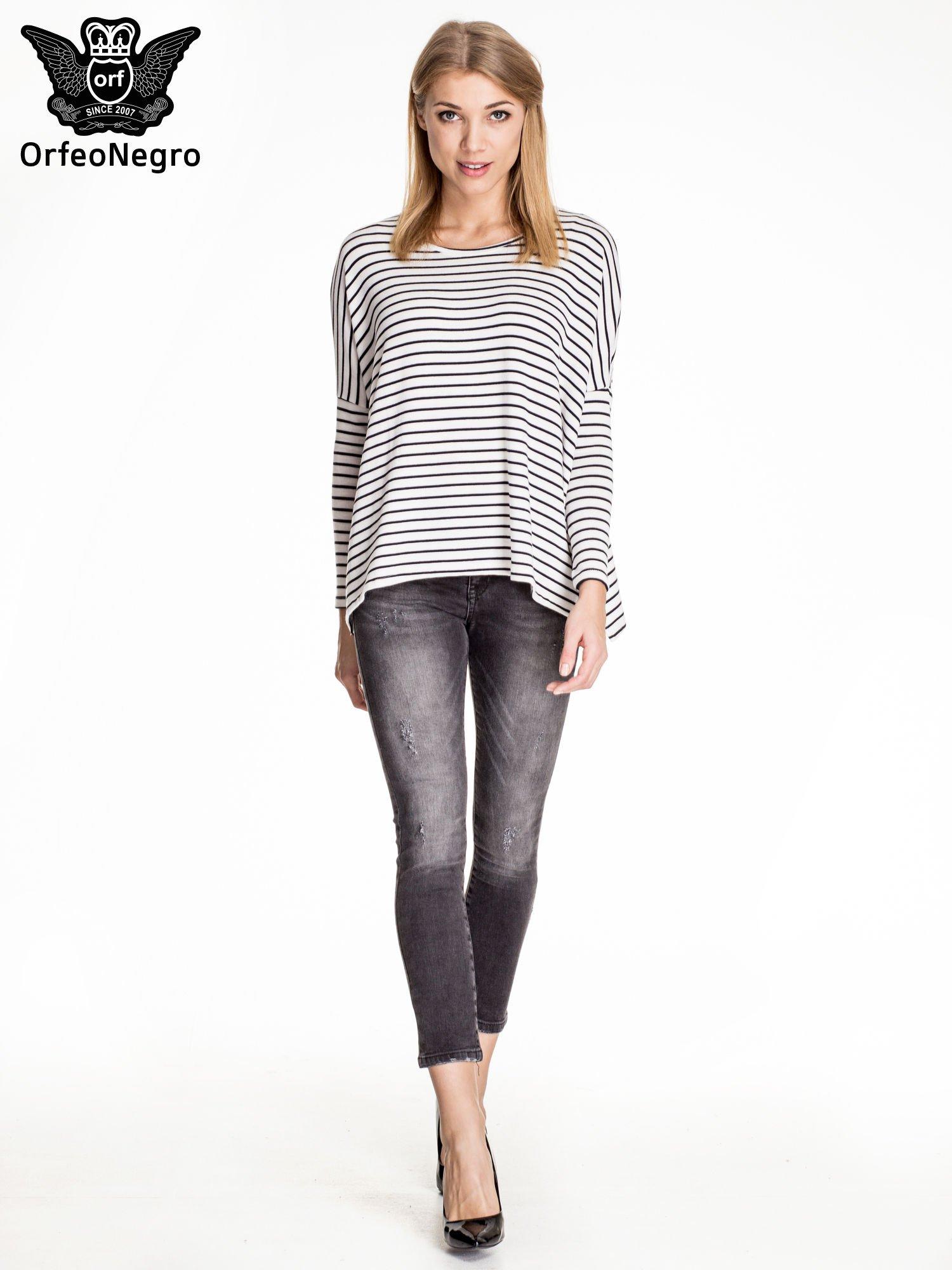 Czarne dopasowane spodnie skinny jeans z przetarciami                                  zdj.                                  2
