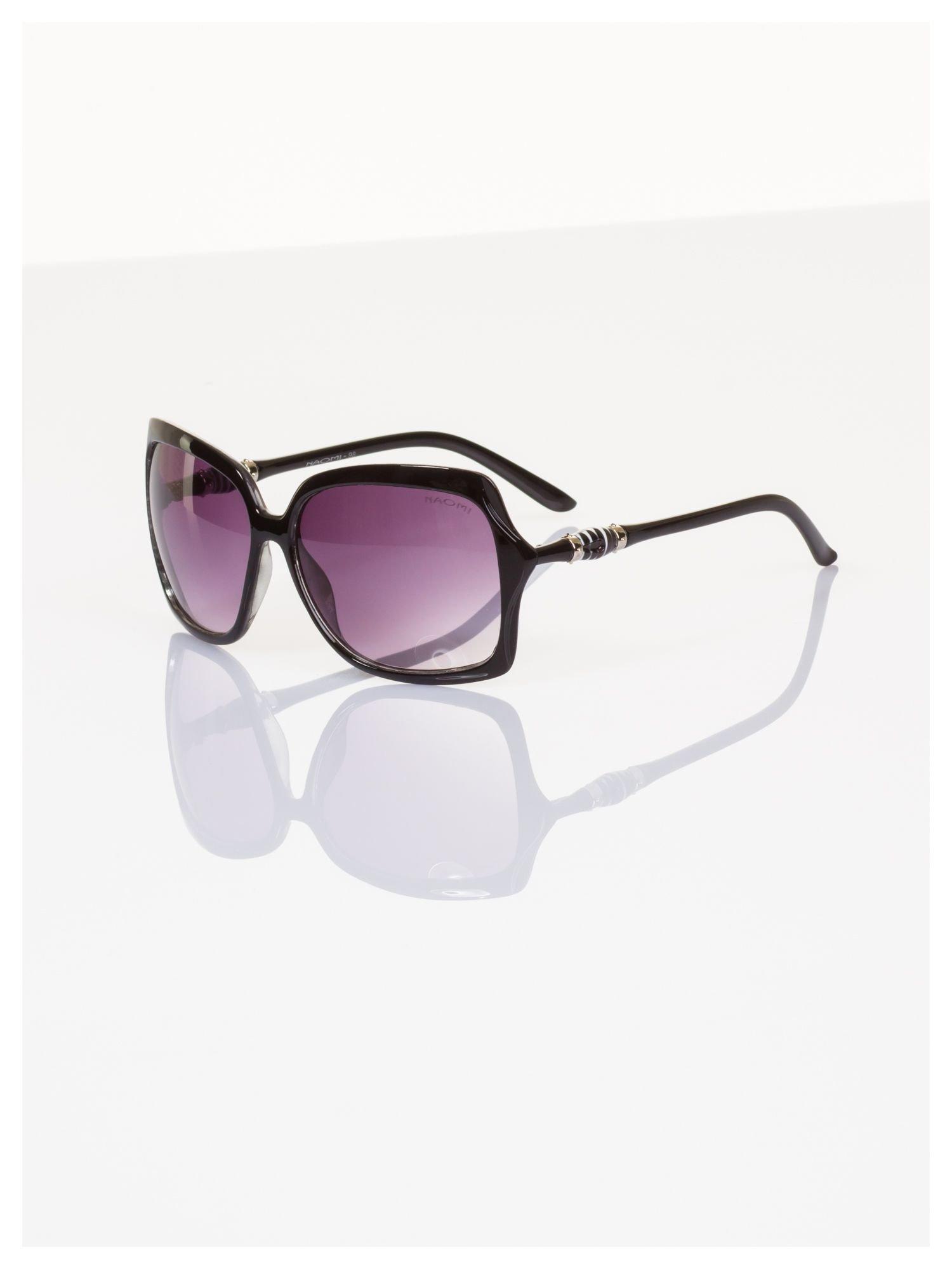 Czarne duże okulary blogerek MUCHY N.Y.STYLE filtry UV,normy CE                                  zdj.                                  1