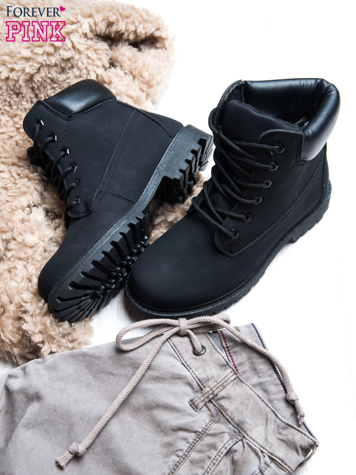 Czarne jednolite buty trekkingowe Westie damskie traperki ocieplane                                  zdj.                                  2