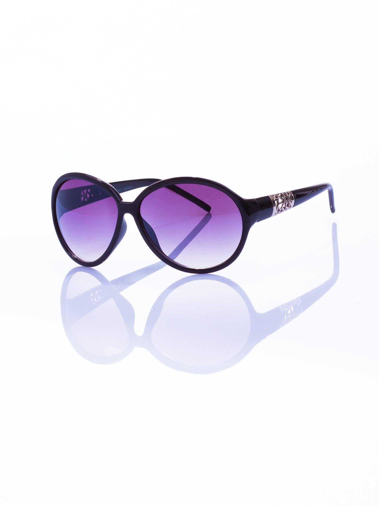 """Czarne klasyczne damskie okulary """"muchy""""                                  zdj.                                  1"""