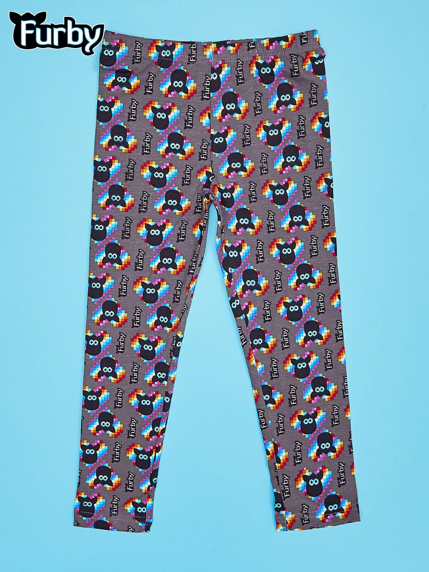 Czarne legginsy dla dziewczynki z nadrukiem FURBY                                  zdj.                                  1