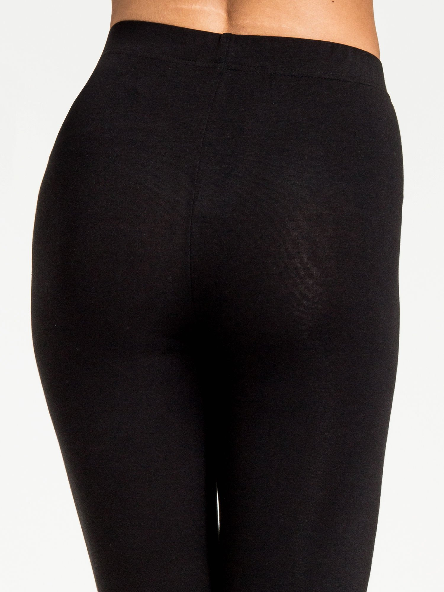 Czarne legginsy z dżetami na dole                                  zdj.                                  7