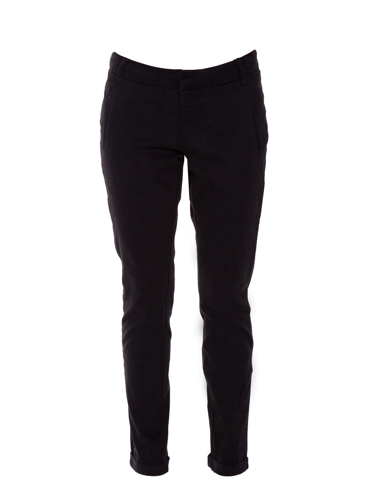 Czarne proste spodnie typu cygaretki 7/8                                  zdj.                                  7