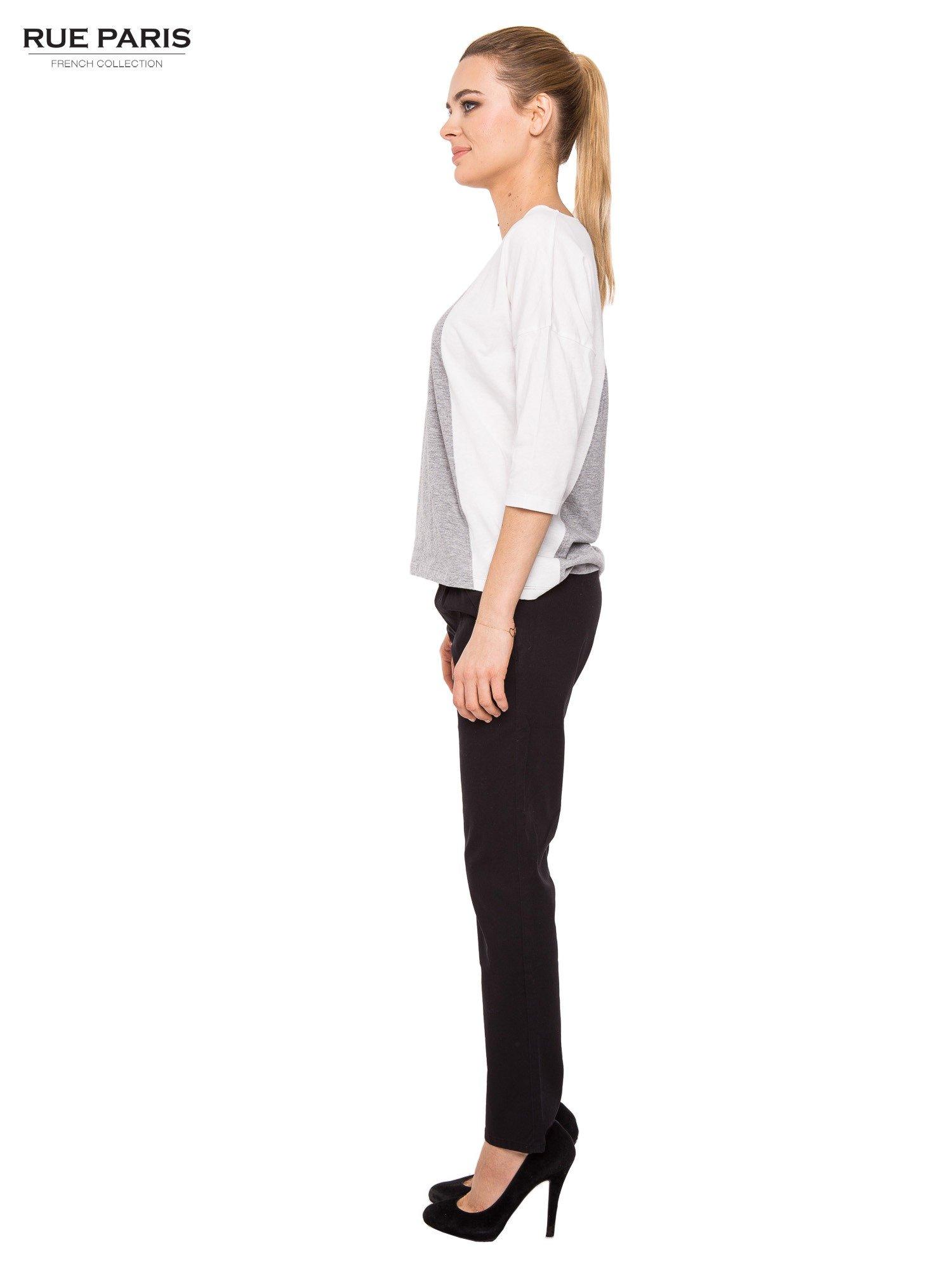 Czarne proste spodnie z paskiem                                  zdj.                                  6