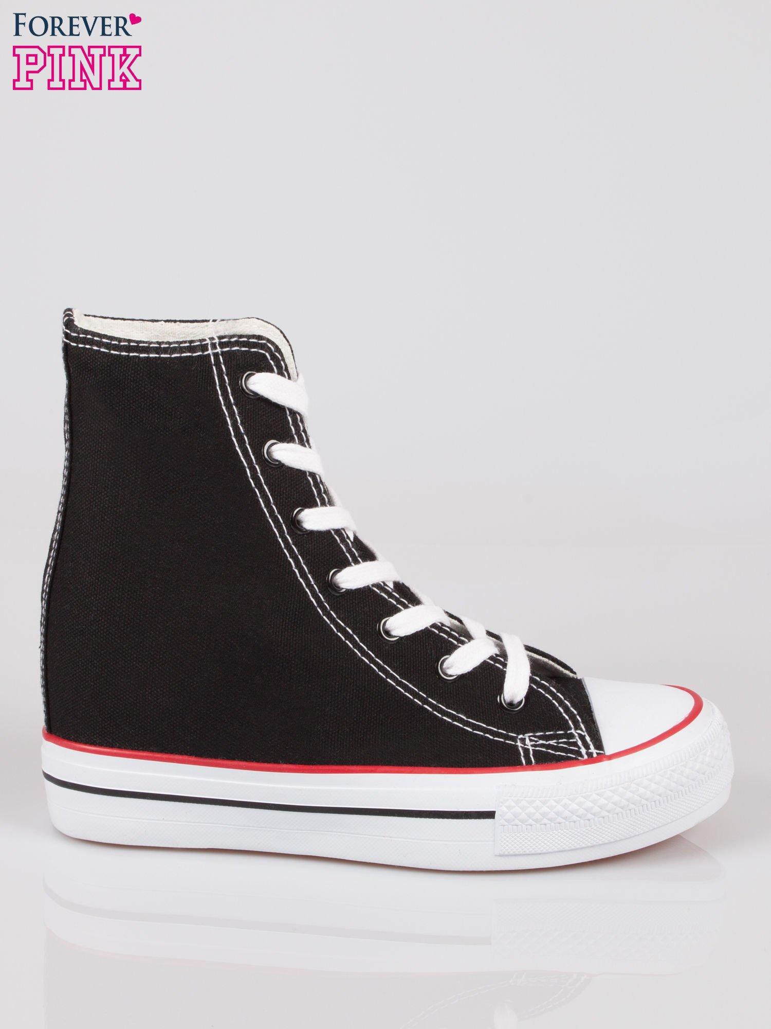 Czarne sneakersy trampki damskie na koturnie Liliana                                  zdj.                                  1