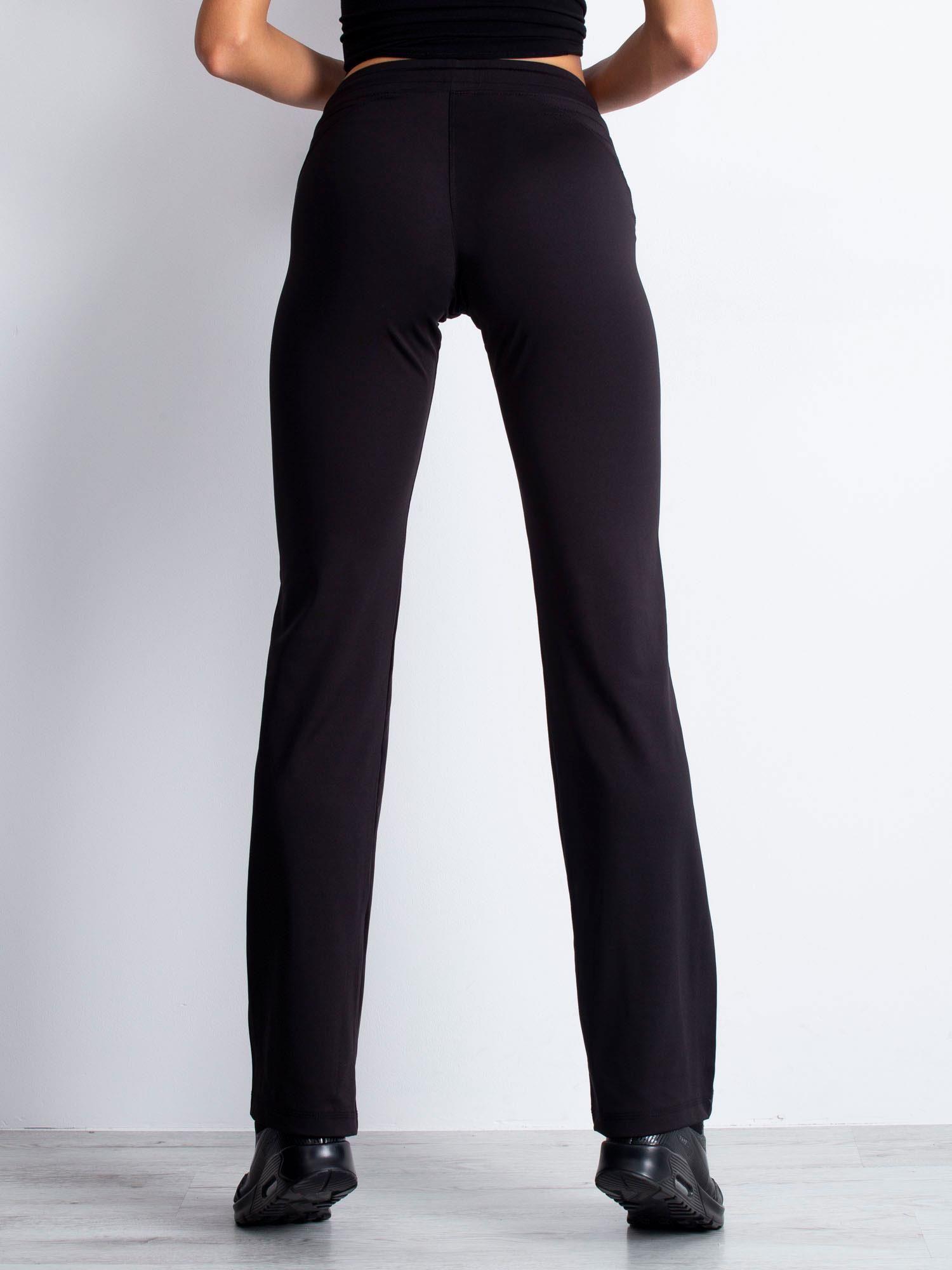 Czarne spodnie dresowe z troczkiem