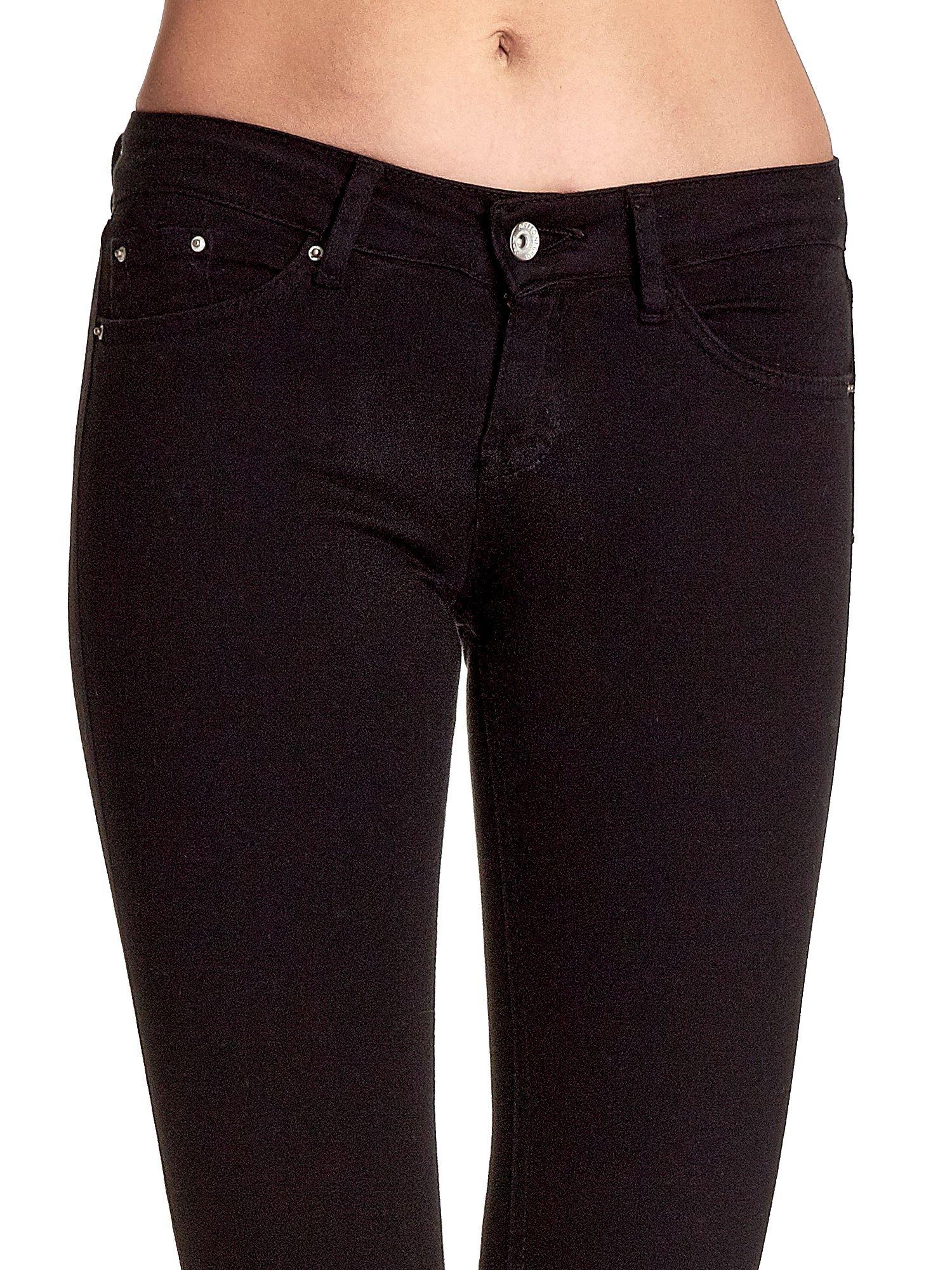 Czarne spodnie typu skinny z elastycznego materiału                                  zdj.                                  5