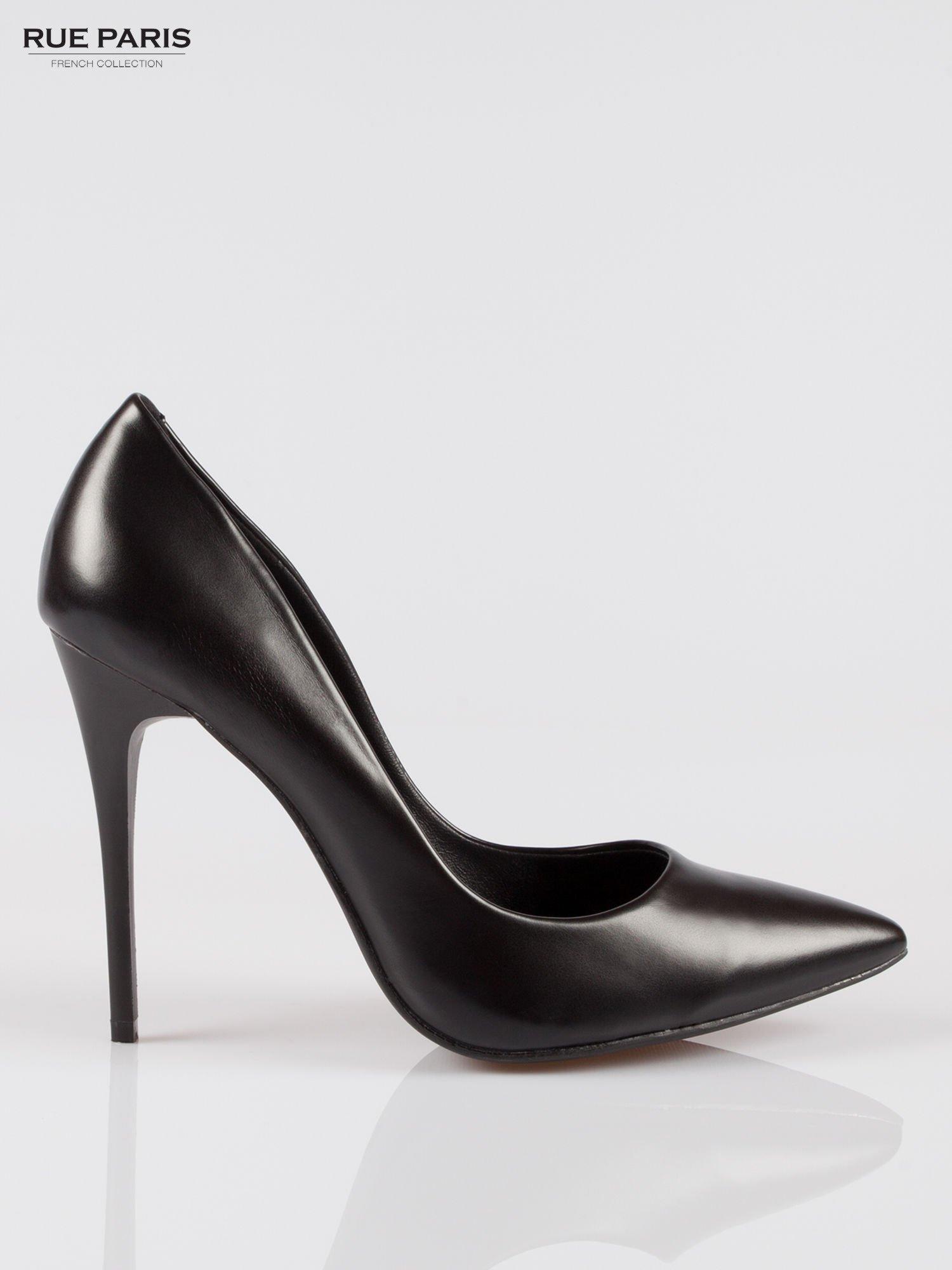 Czarne szpilki high heels z noskiem w szpic                                  zdj.                                  1